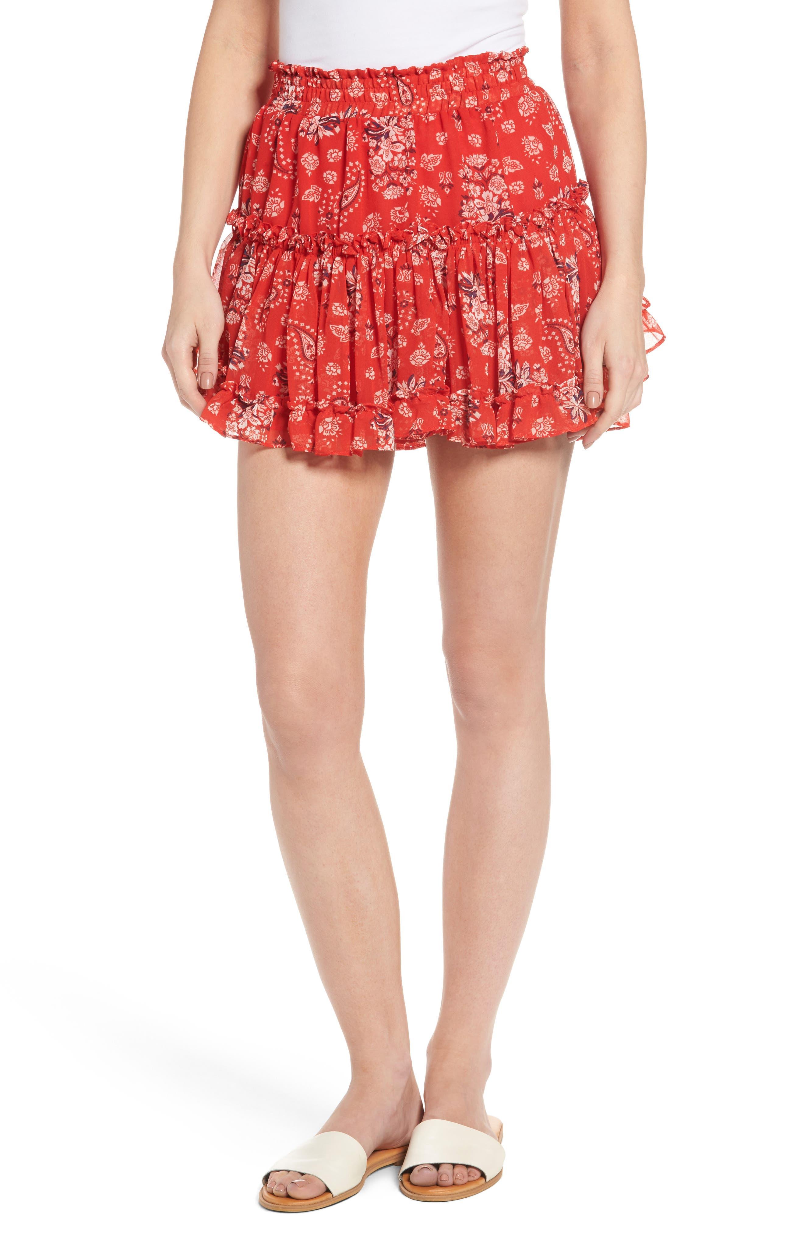 MISA Los Angeles Marion Paisley Miniskirt