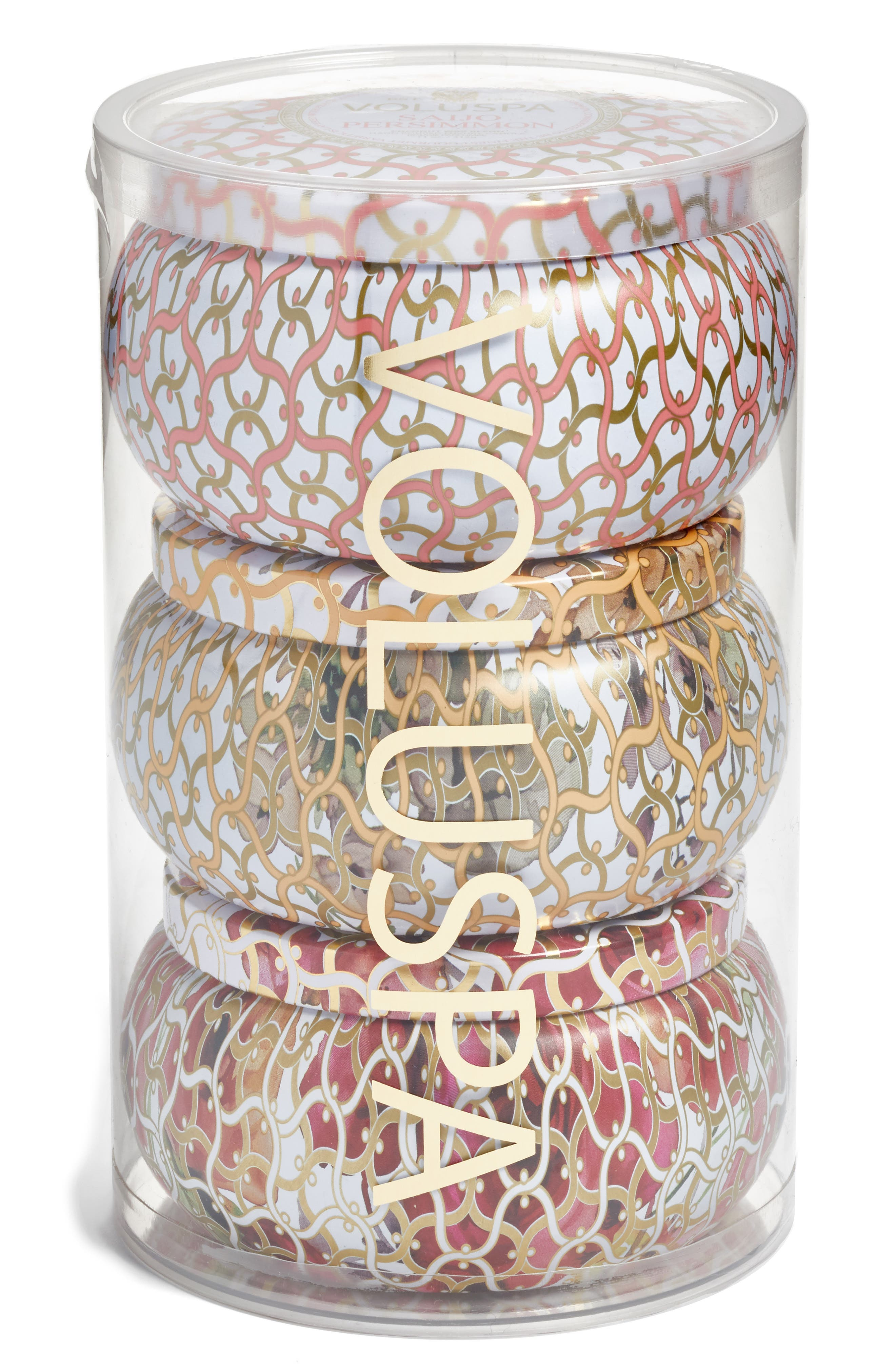 Main Image - Voluspa Maison Blanc Two-Wick Tin Candle Set