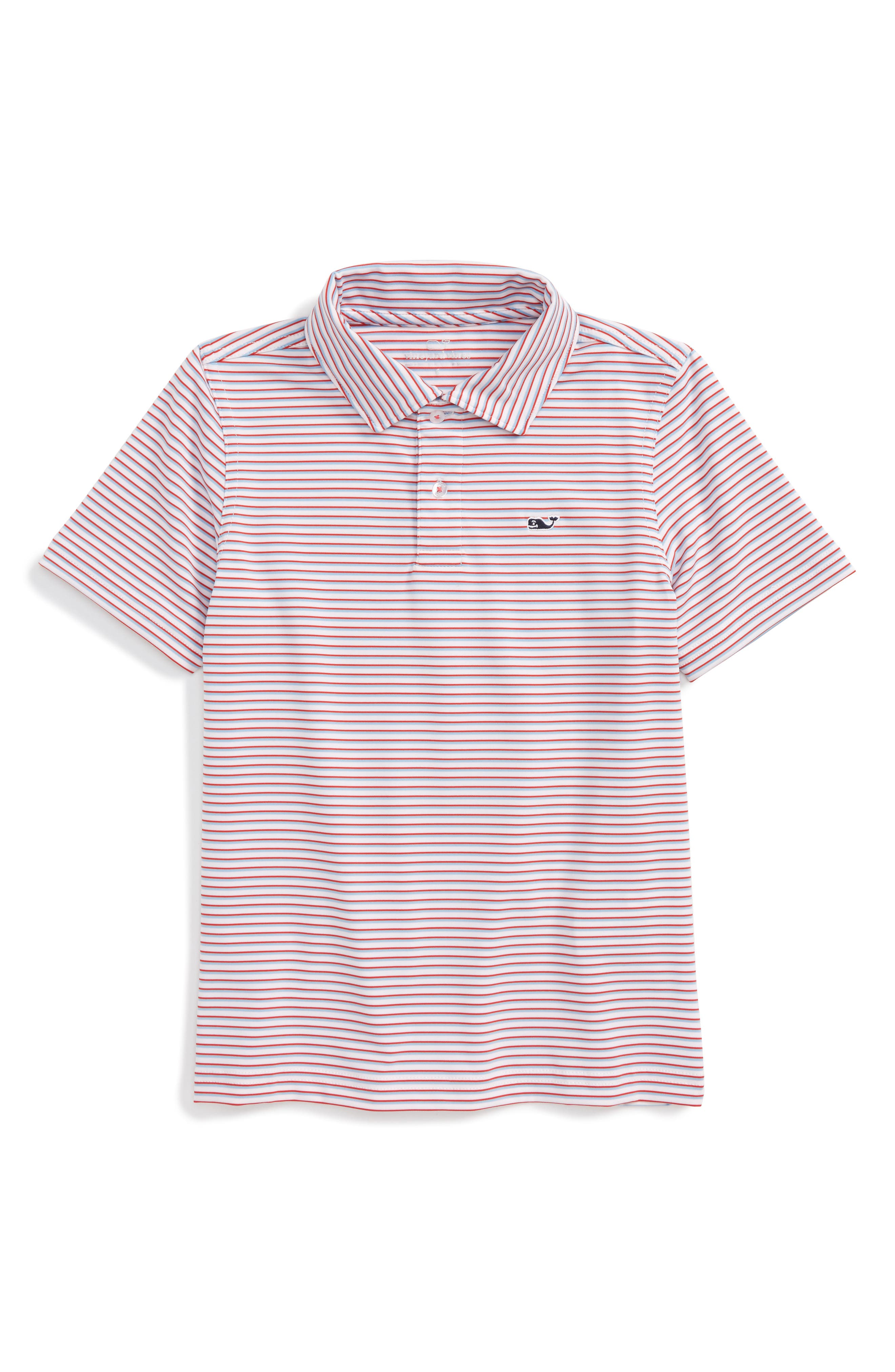 Vineyard Vines Stripe Performance Polo (Toddler Boys, Little Boys & Big Boys)
