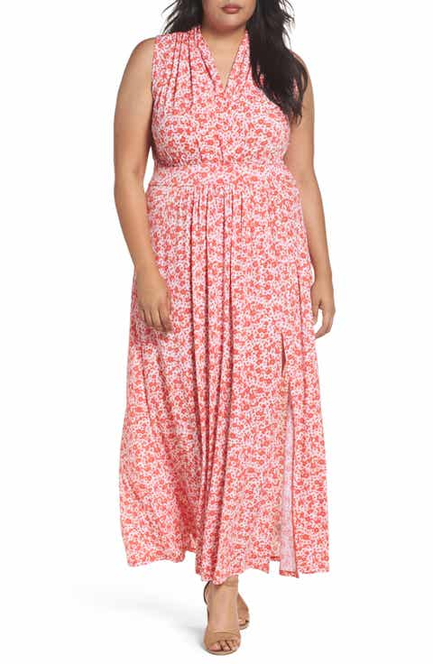 MICHAEL Michael Kors Lydia Print Maxi Dress (Plus Size)