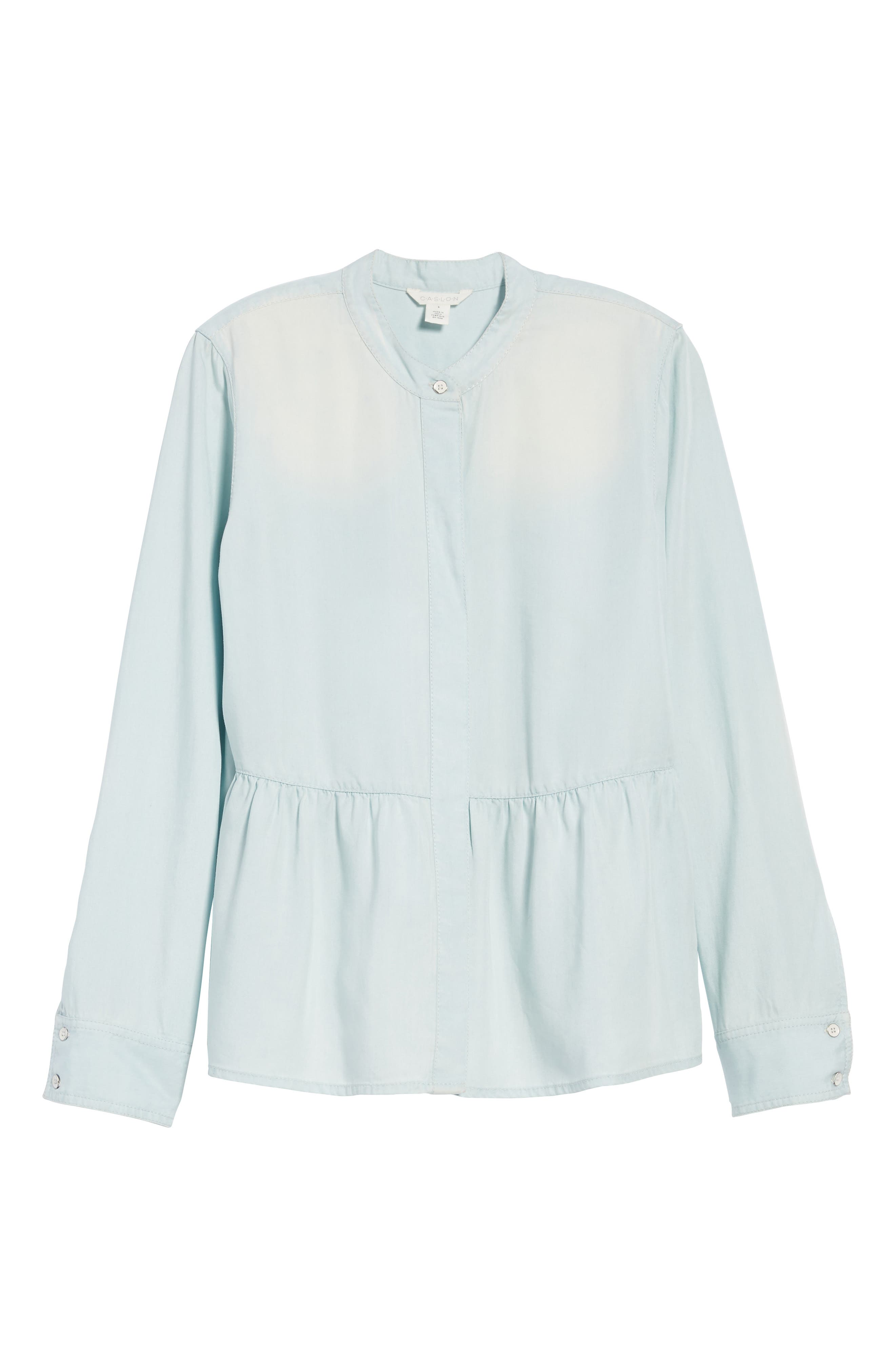 Alternate Image 6  - Caslon® Peplum Shirt (Regular & Petite)