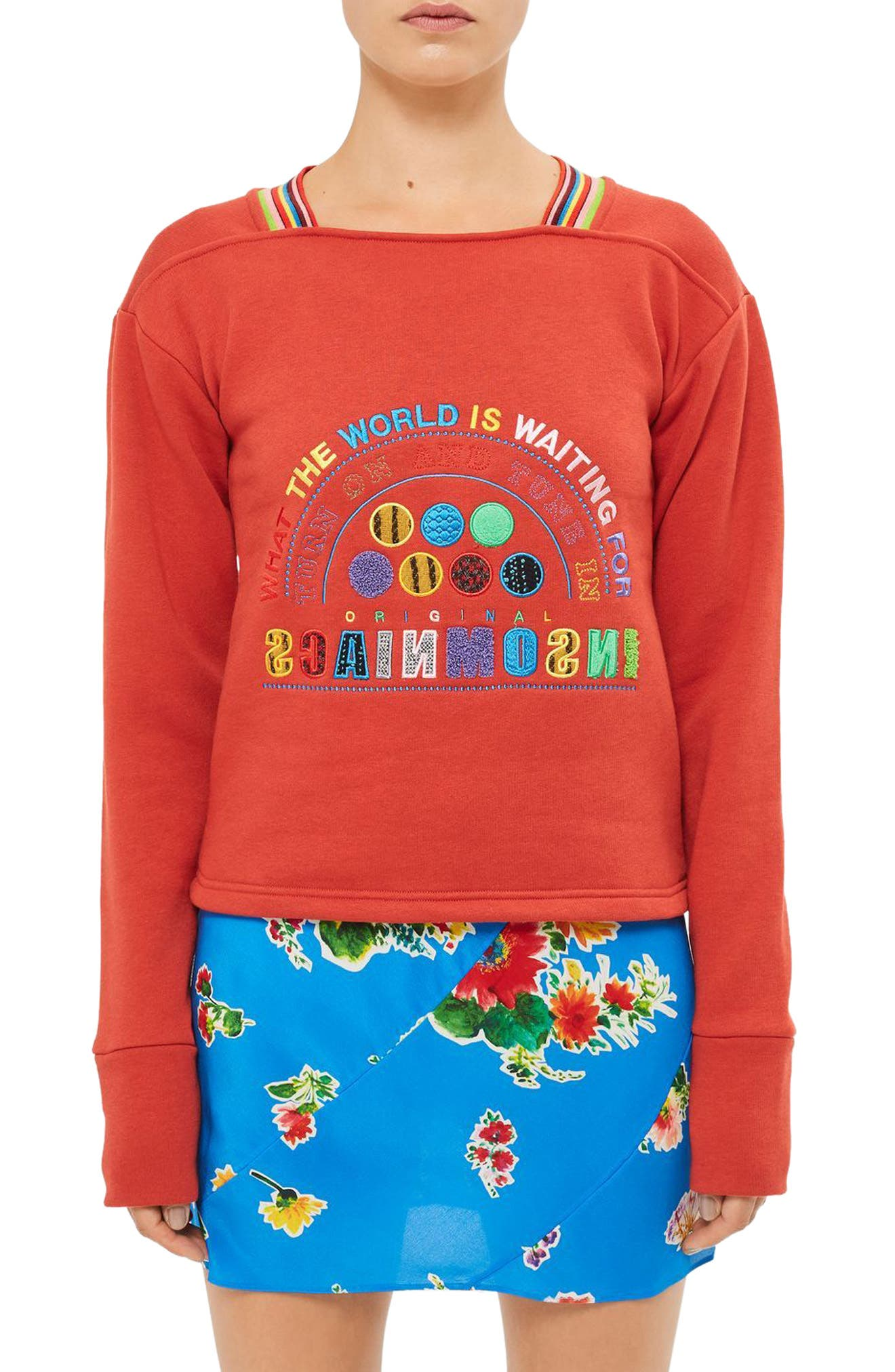Topshop Unique Northside Sweatshirt