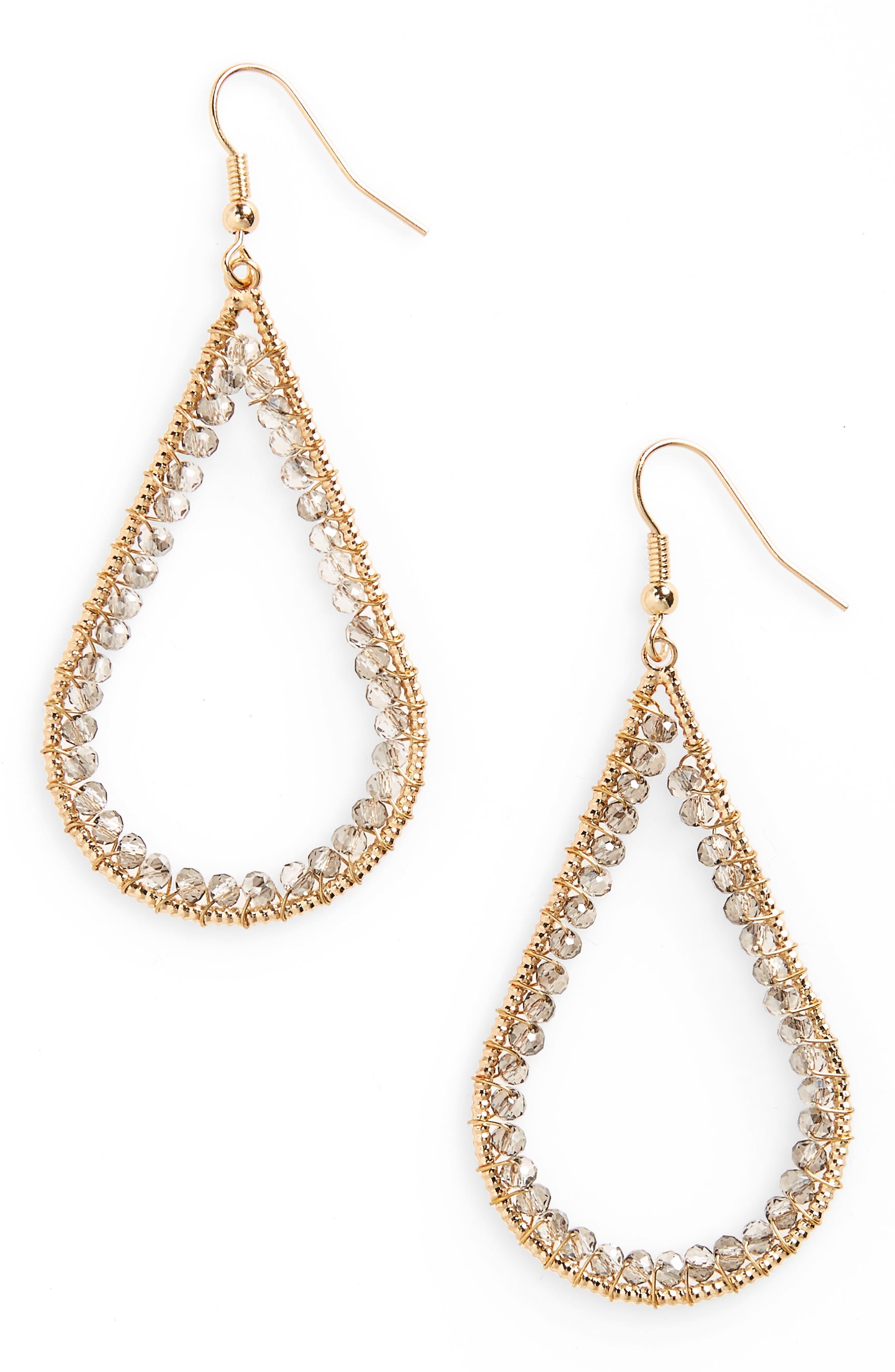 Panacea Beaded Teardrop Earrings