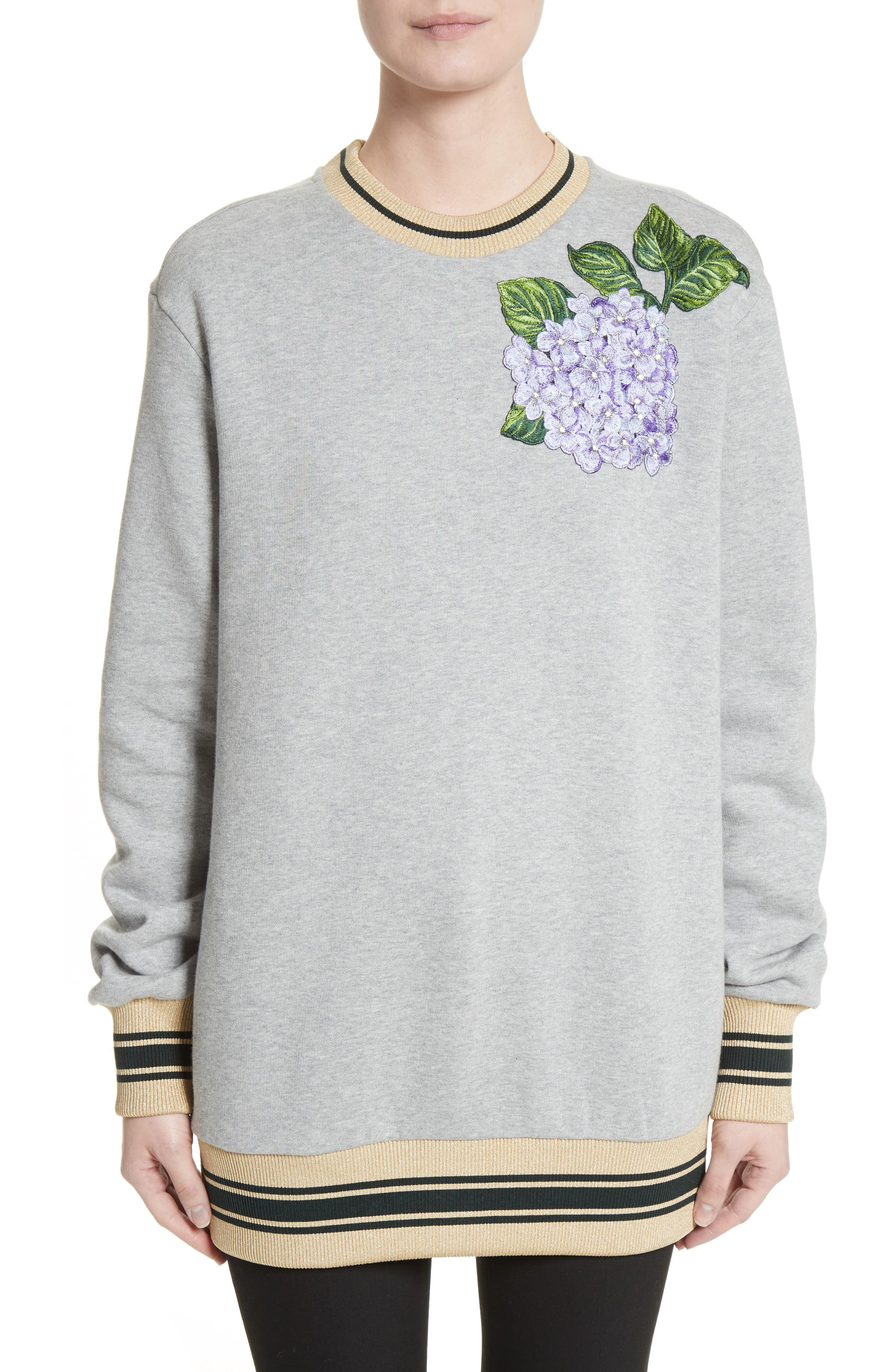 Dolce&Gabbana Hydrangea Patch Sweatshirt