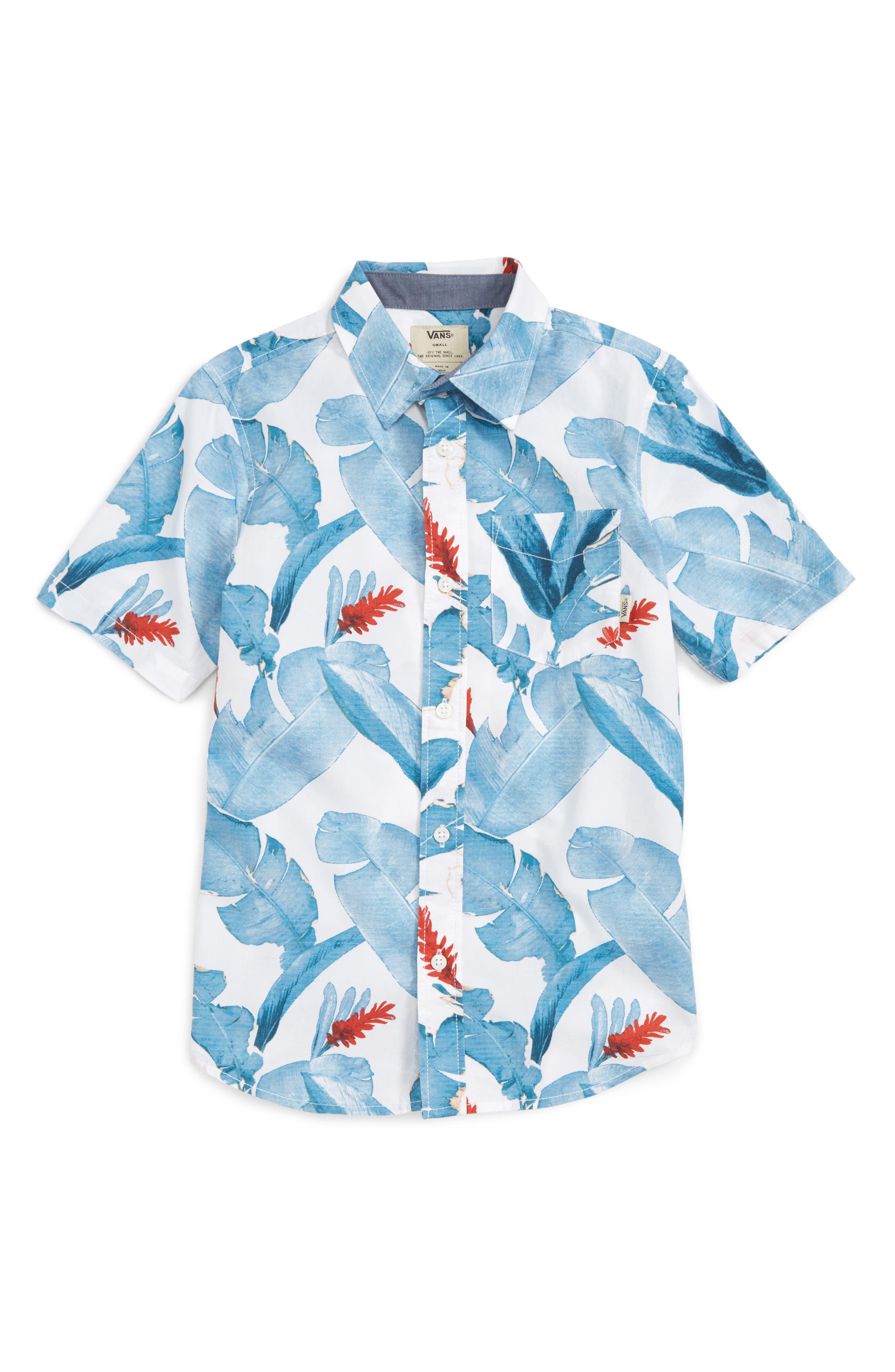 Vans Bonsai Woven Shirt (Big Boys)