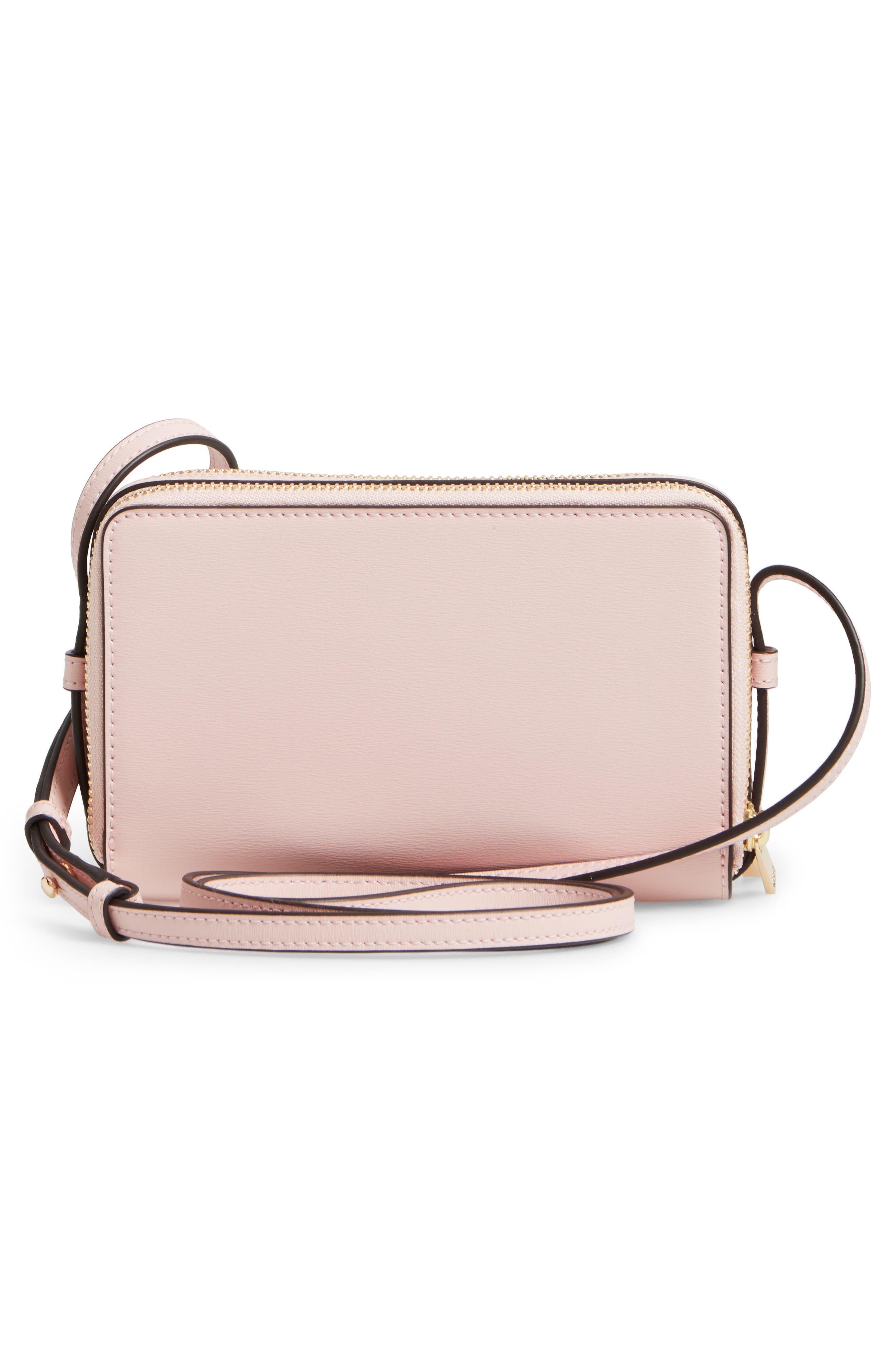 TORY BURCH Mini Parker Leather Crossbody Bag Neutrals | ModeSens
