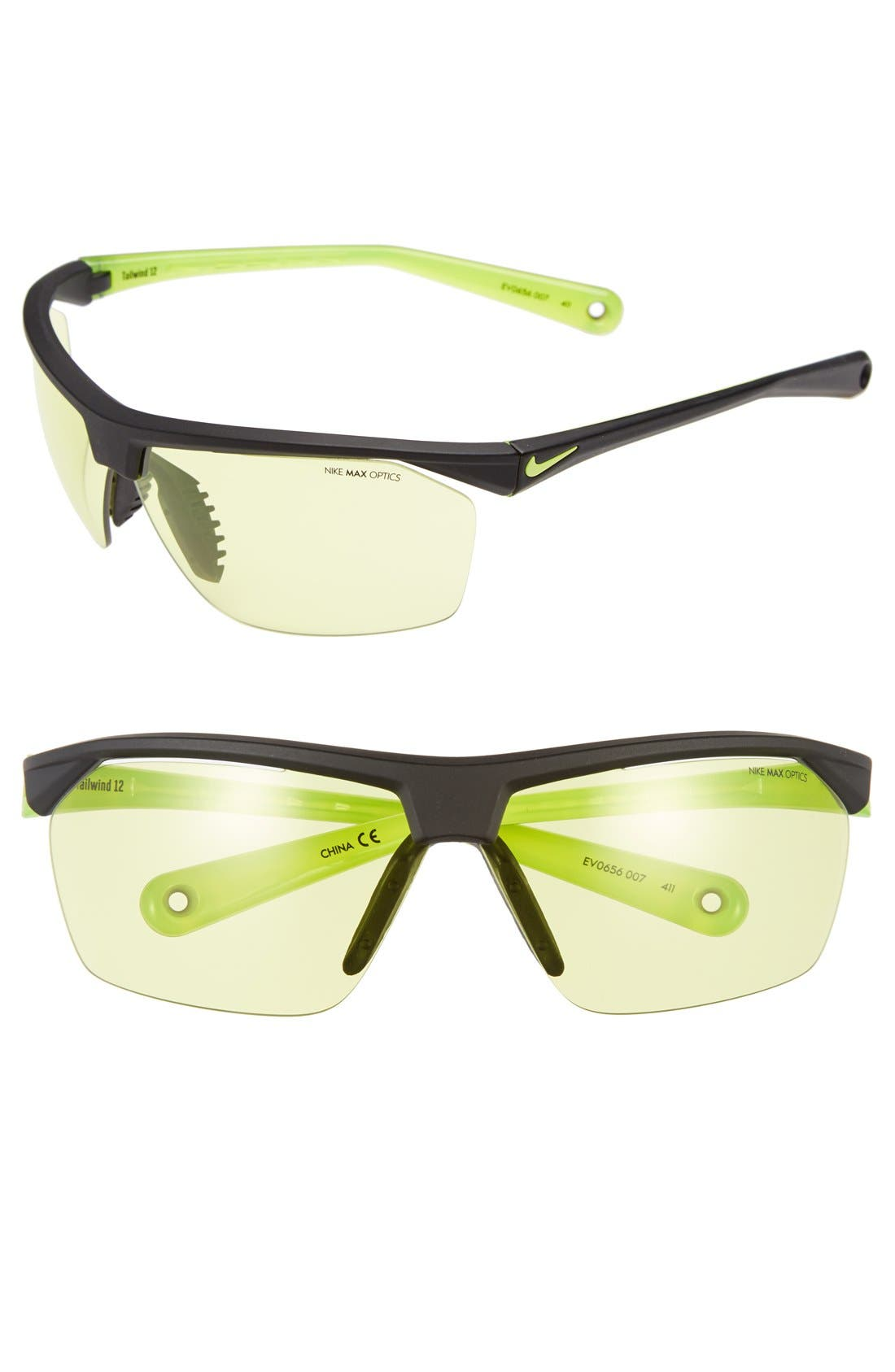 Alternate Image 1 Selected - Nike 'Tailwind' 70mm Semi Rimless Sunglasses