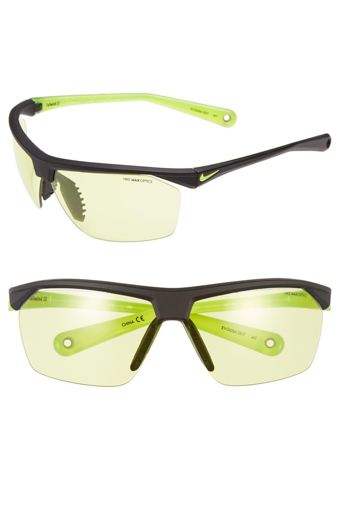 Main Image - Nike 'Tailwind' 70mm Semi Rimless Sunglasses