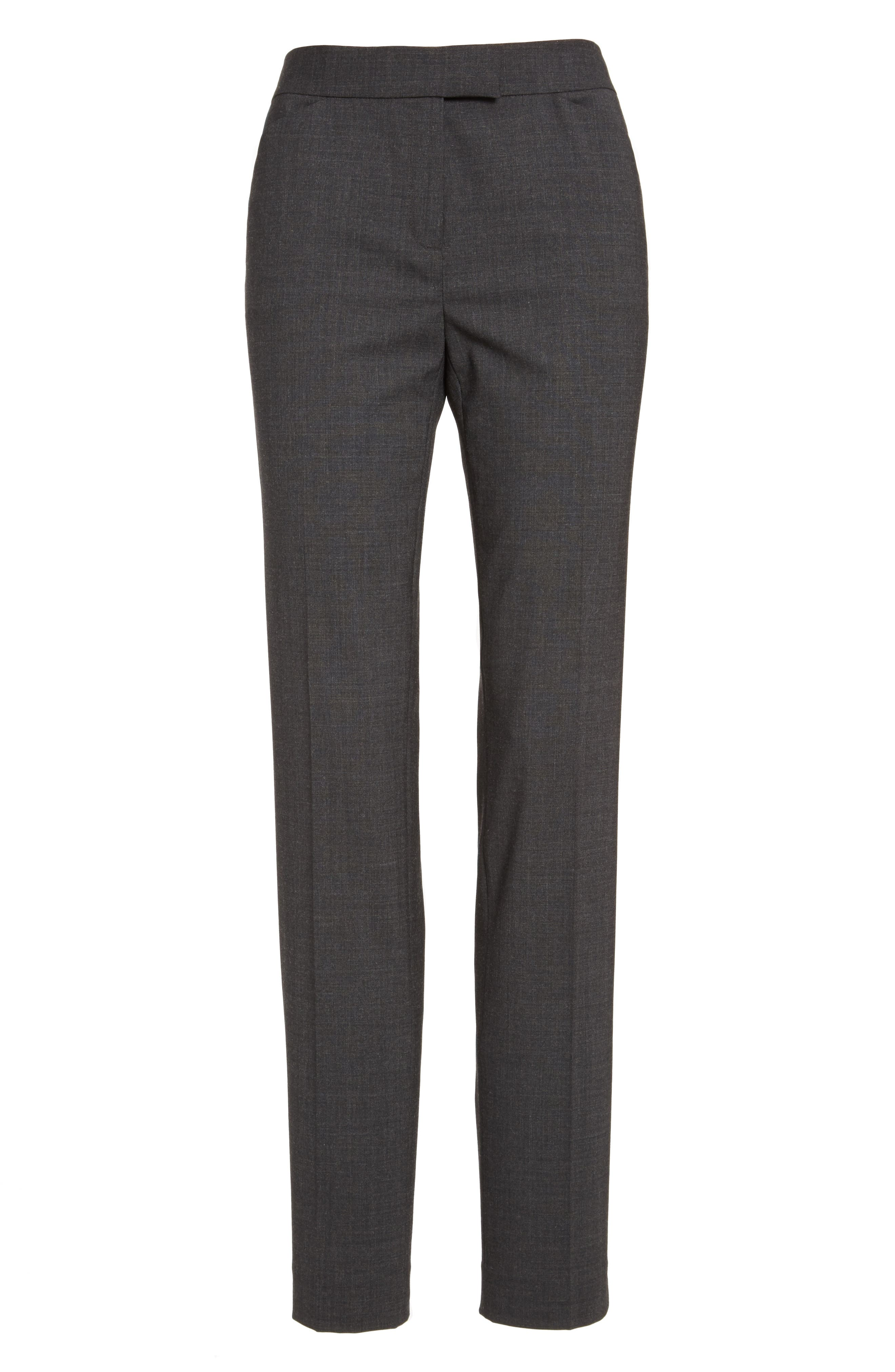 Alternate Image 4  - Lafayette 148 New York Irving Stretch Wool Pants (Nordstrom Exclusive)