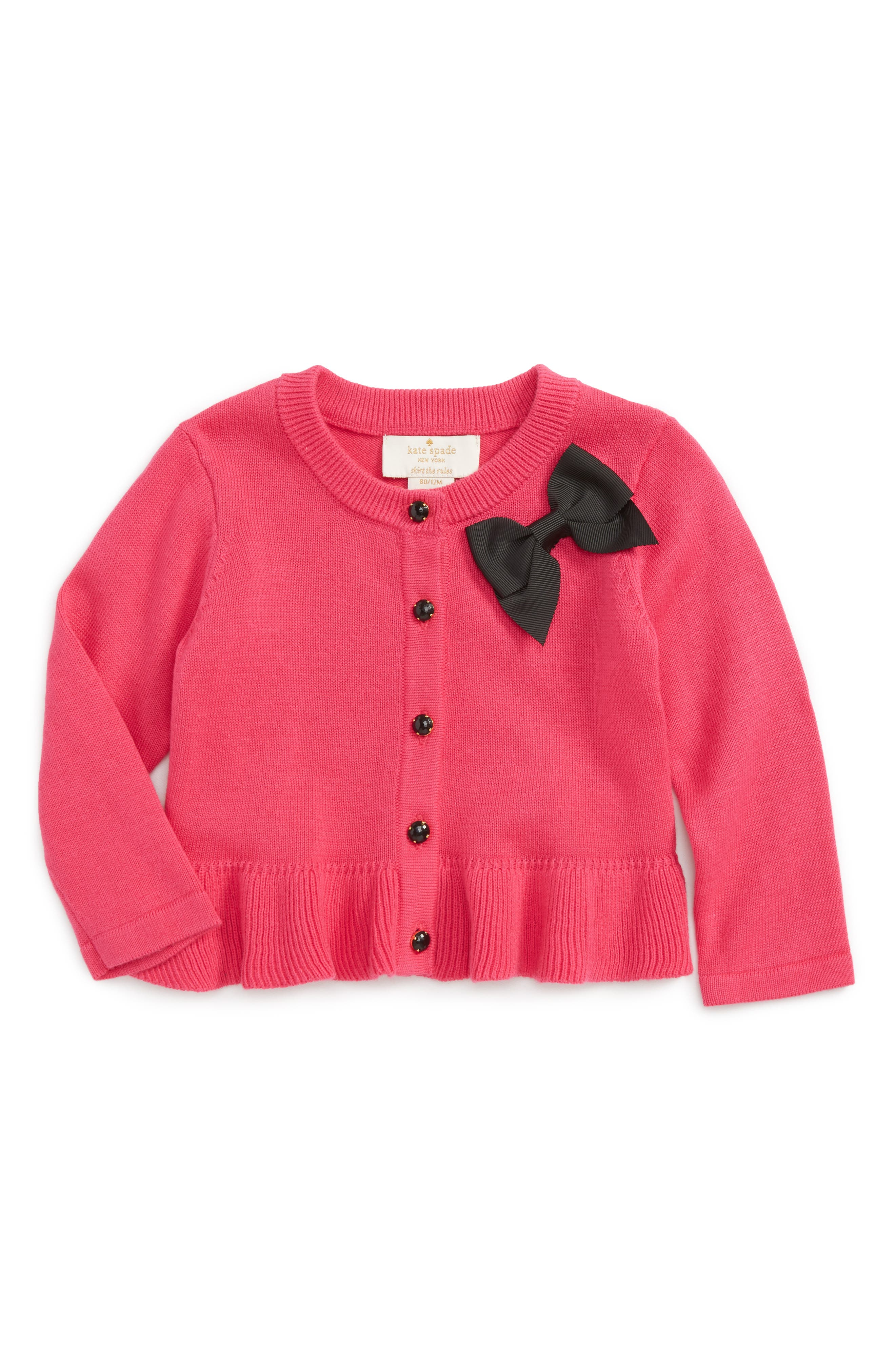 kate spade new york peplum cardigan (Baby Girls)