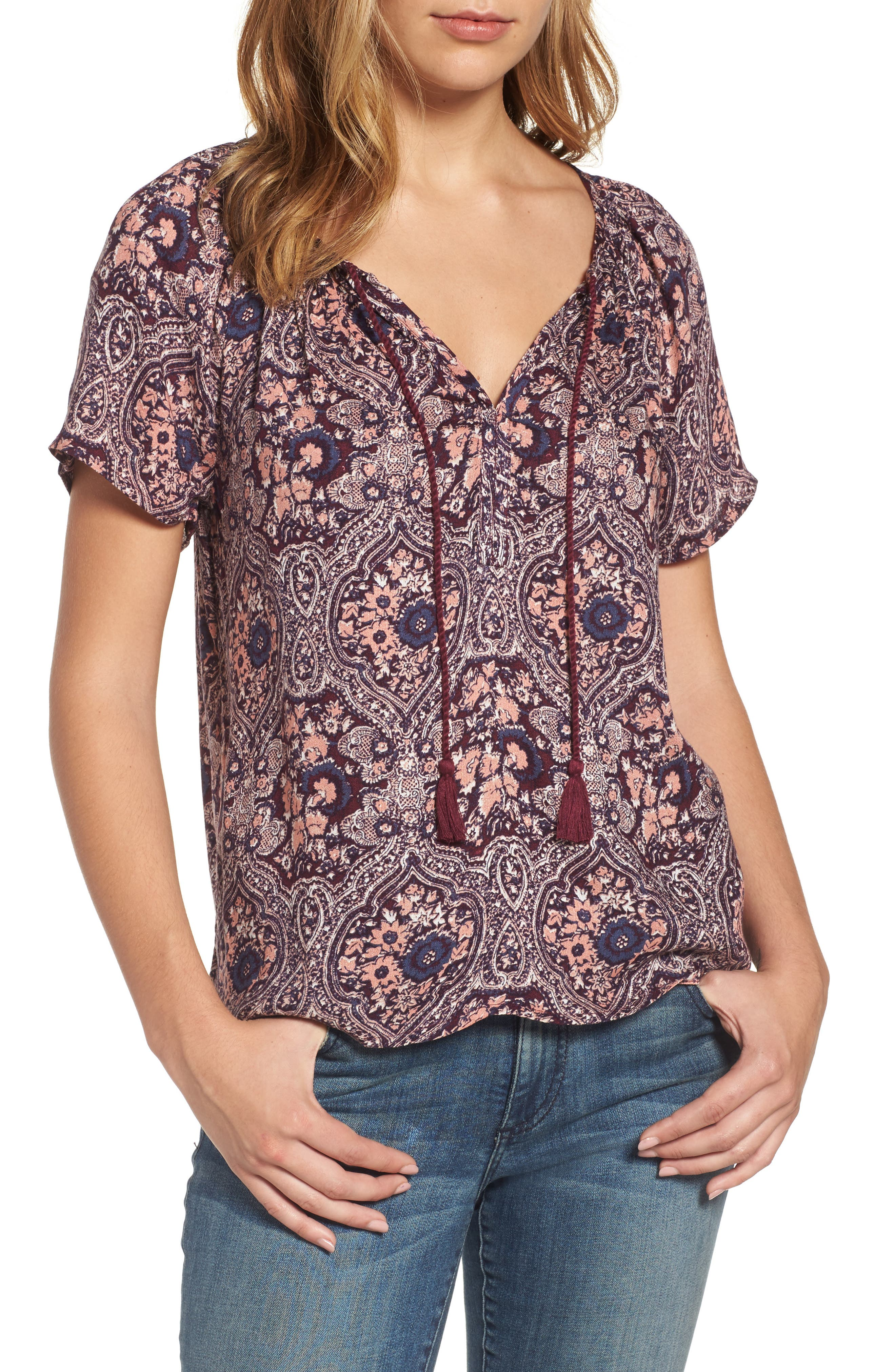 Lucky Brand Print Floral Top