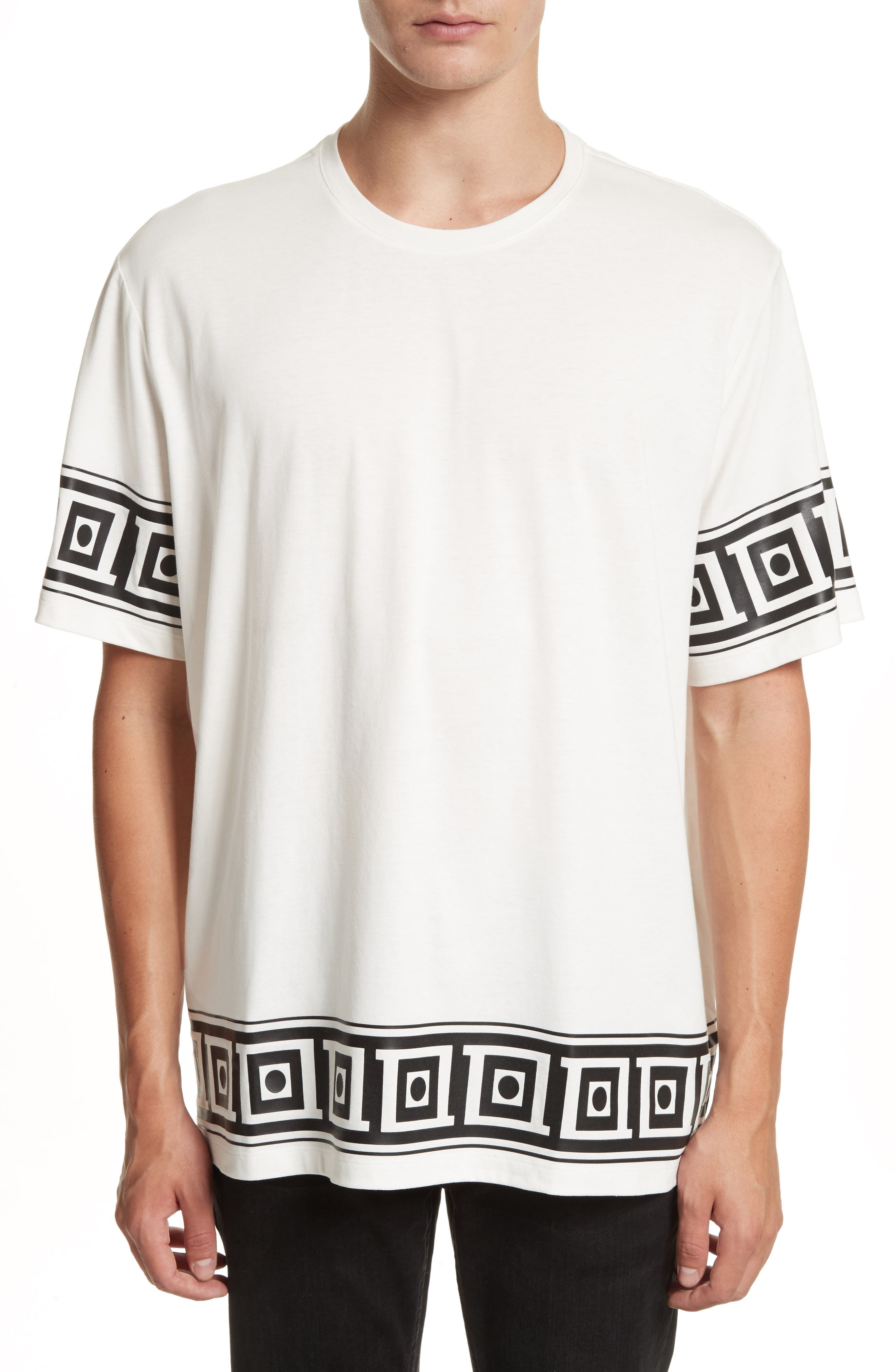 Versace Collection Relaxed Fit Frame Print T-Shirt