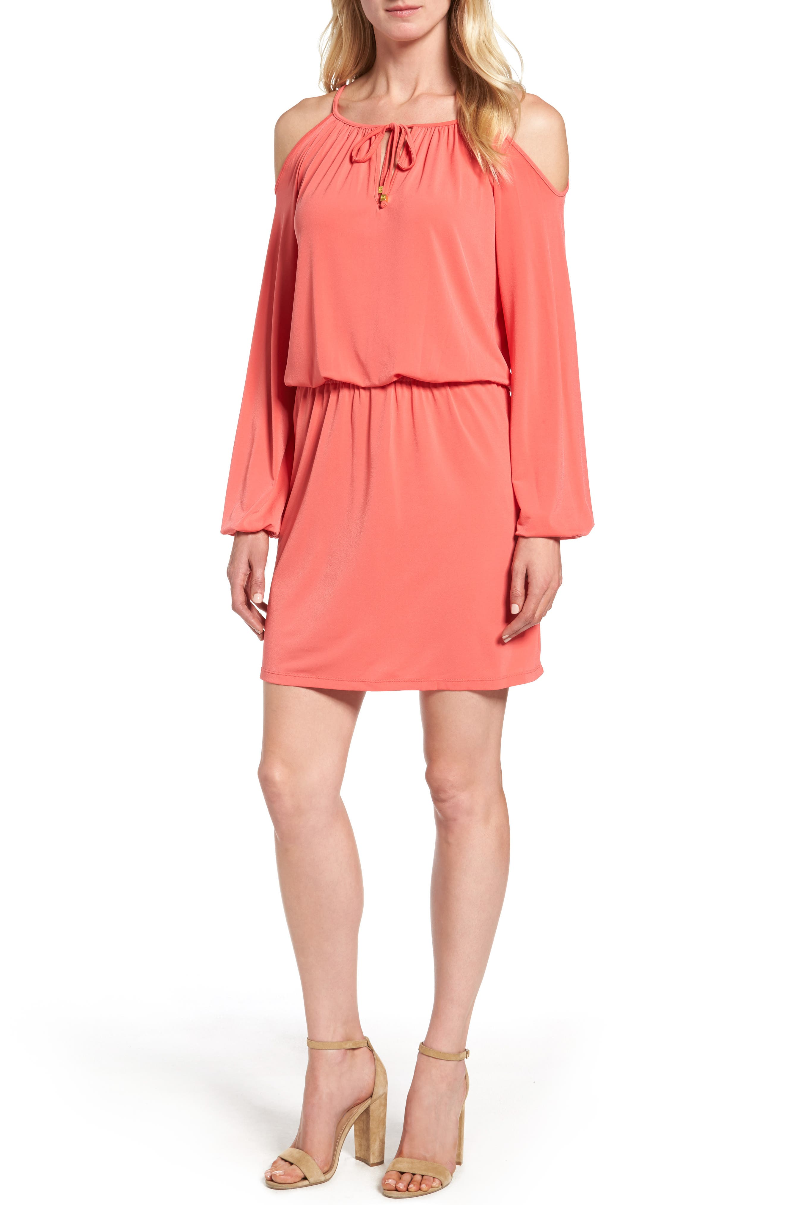 MICHAEL Michael Kors Jersey Cold Shoulder Dress (Regular & Petite)