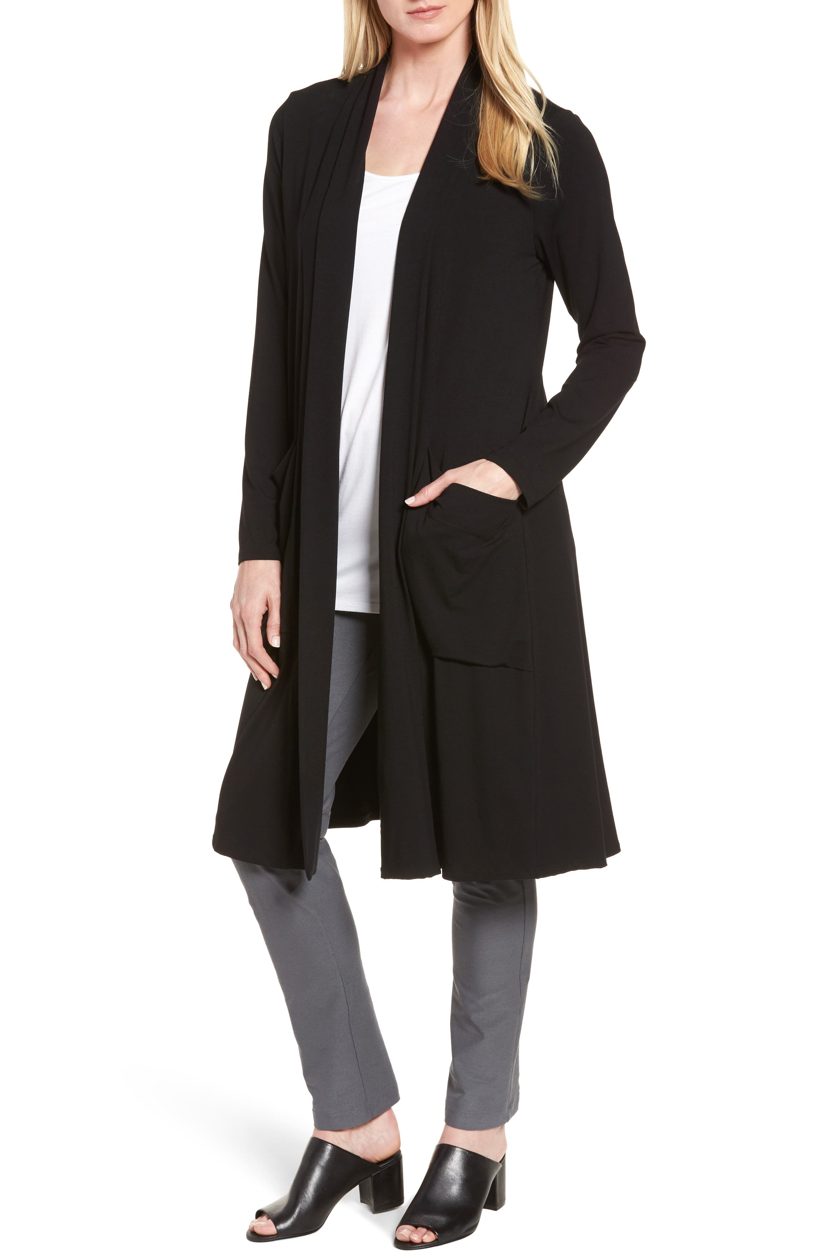 Eileen Fisher Long Jersey Cardigan
