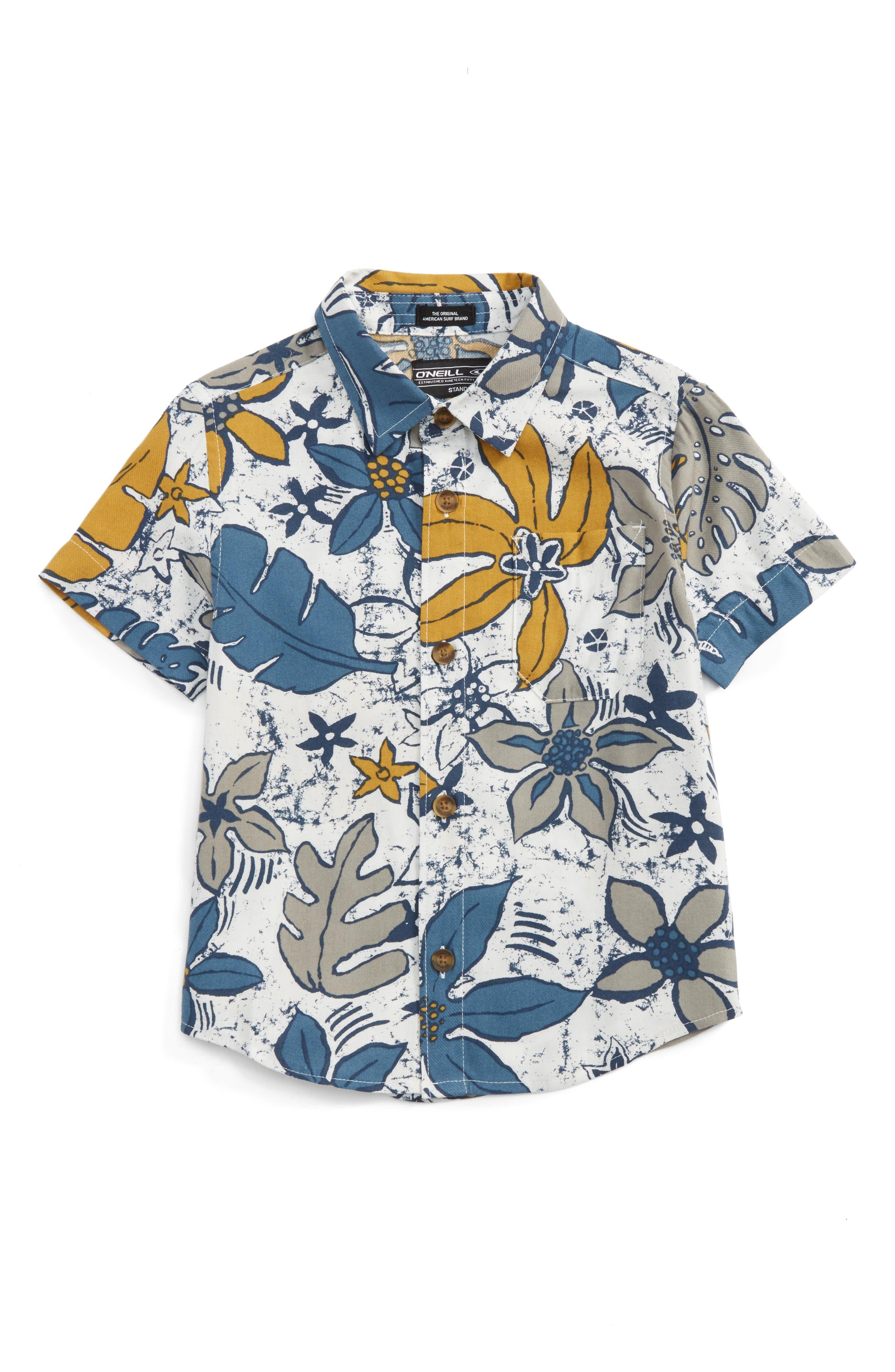 O'Neill Lahaina Tropical Print Woven Shirt (Toddler Boys)