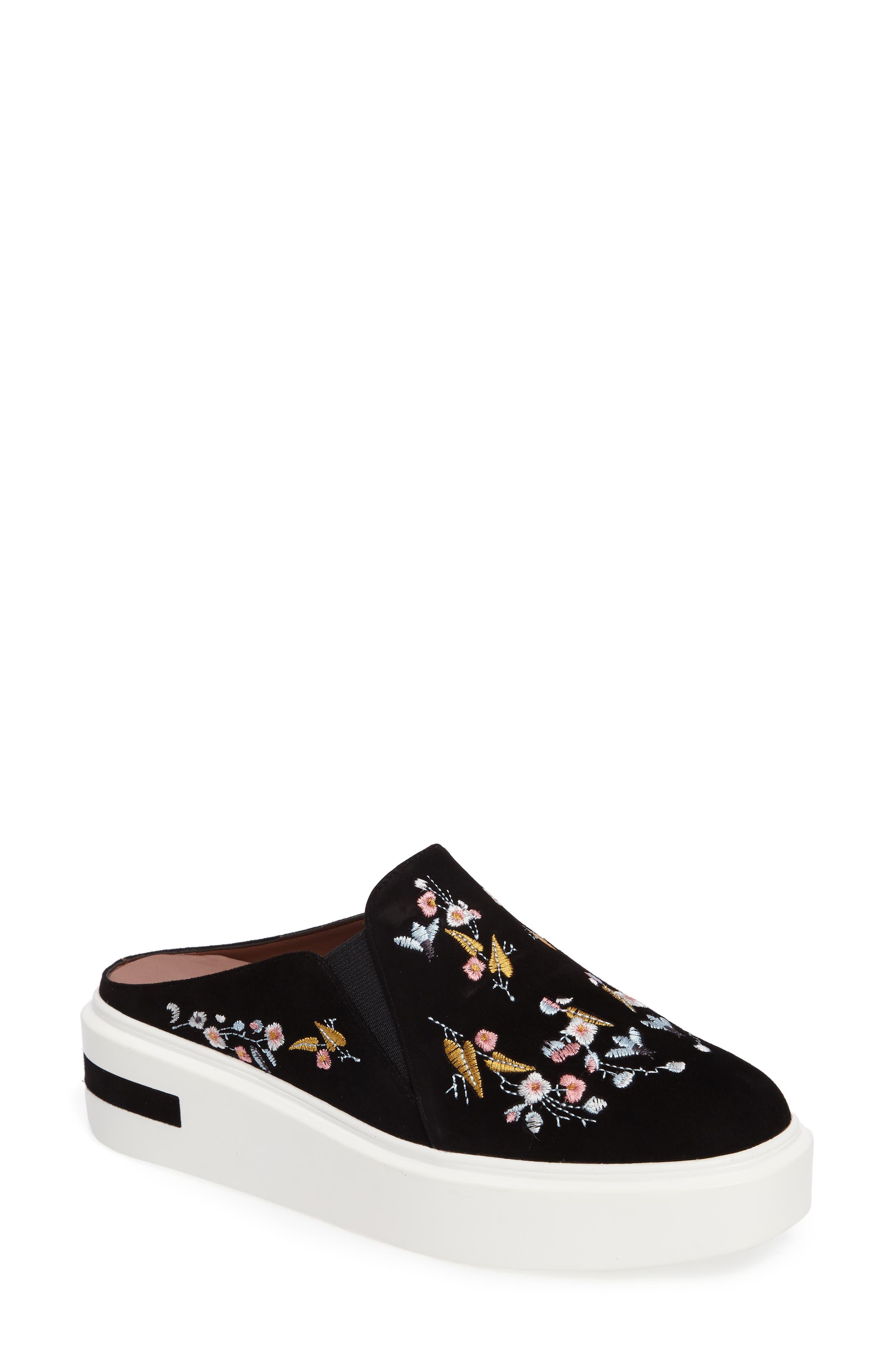 Linea Paolo Fab II Embroidered Platform Sneaker (Women)