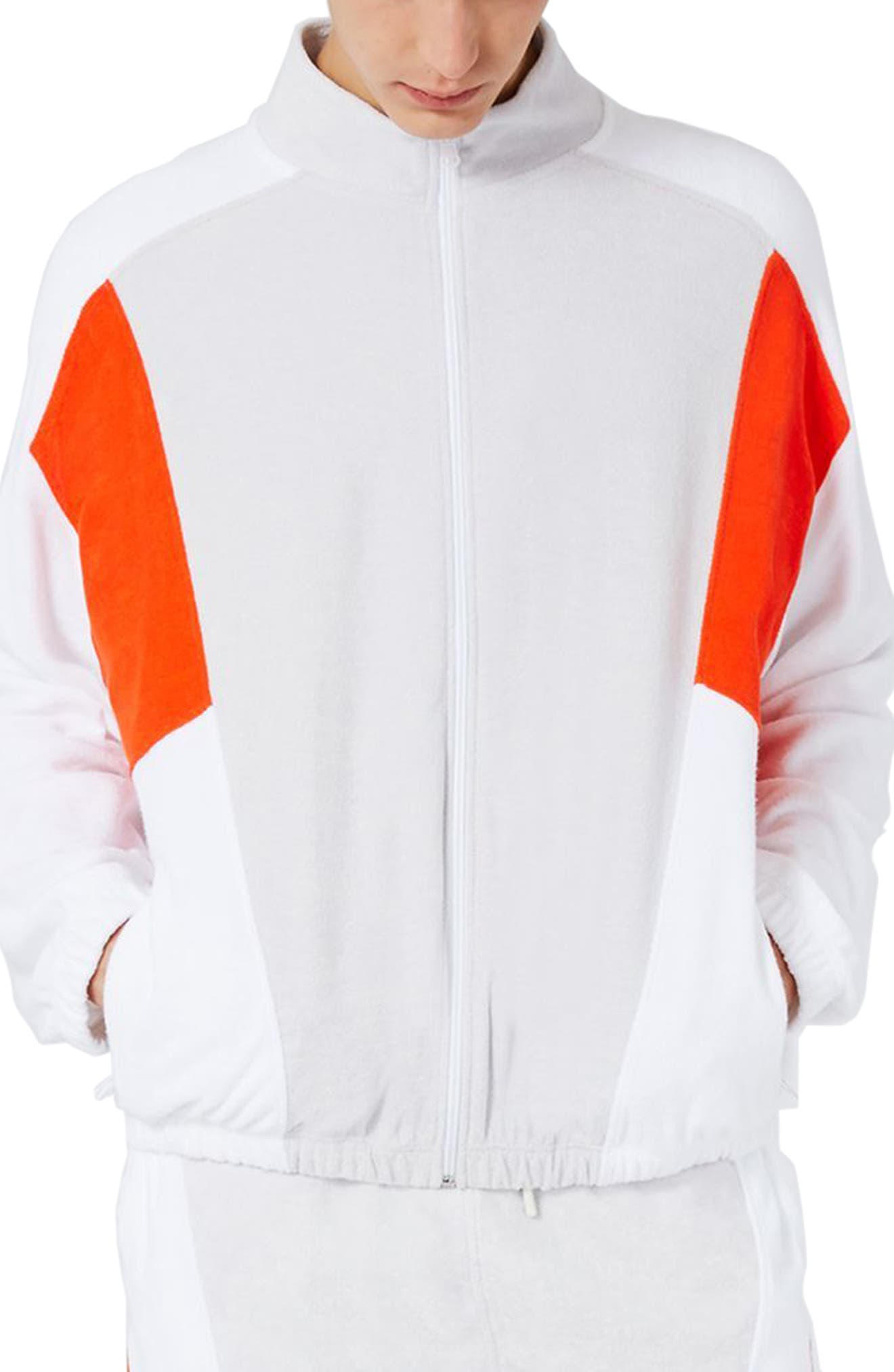 Topman Terry Cloth Track Jacket