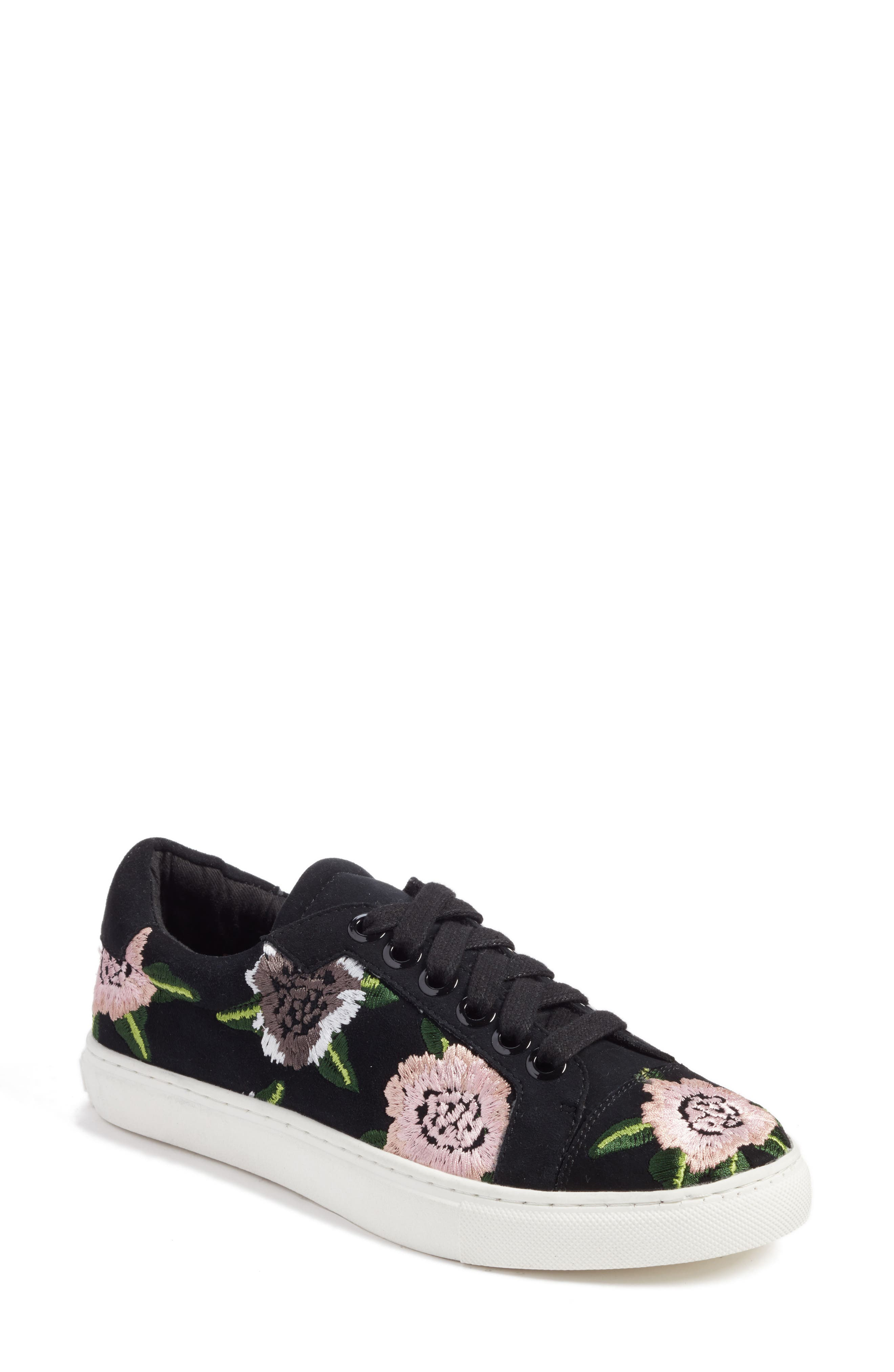 Rebecca Minkoff Bleecker Floral Embroidered Sneaker (Women)