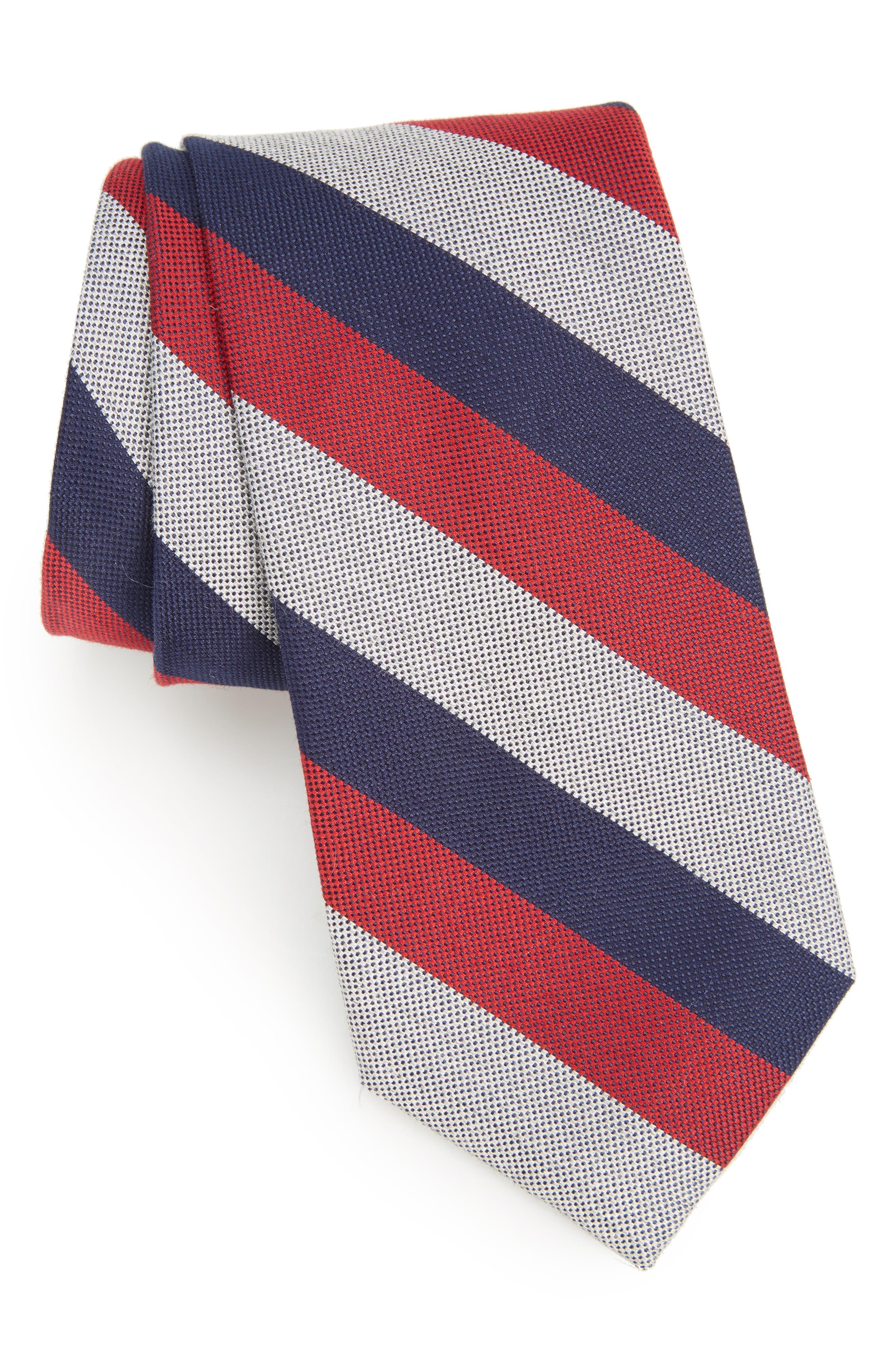 Calibrate Byron Stripe Cotton Blend Tie