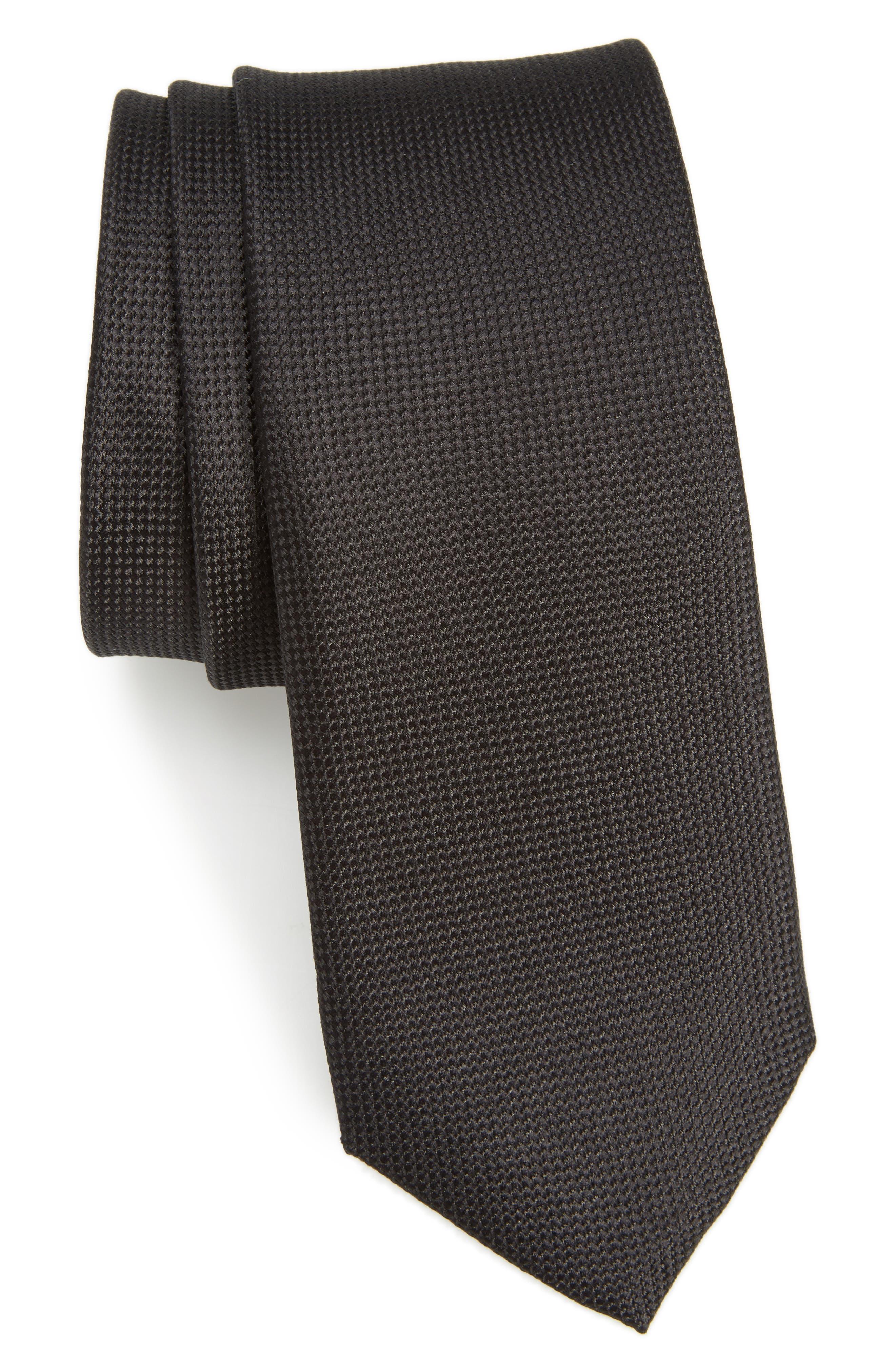 Nordstrom Men's Shop Maison Solid Silk Skinny Tie