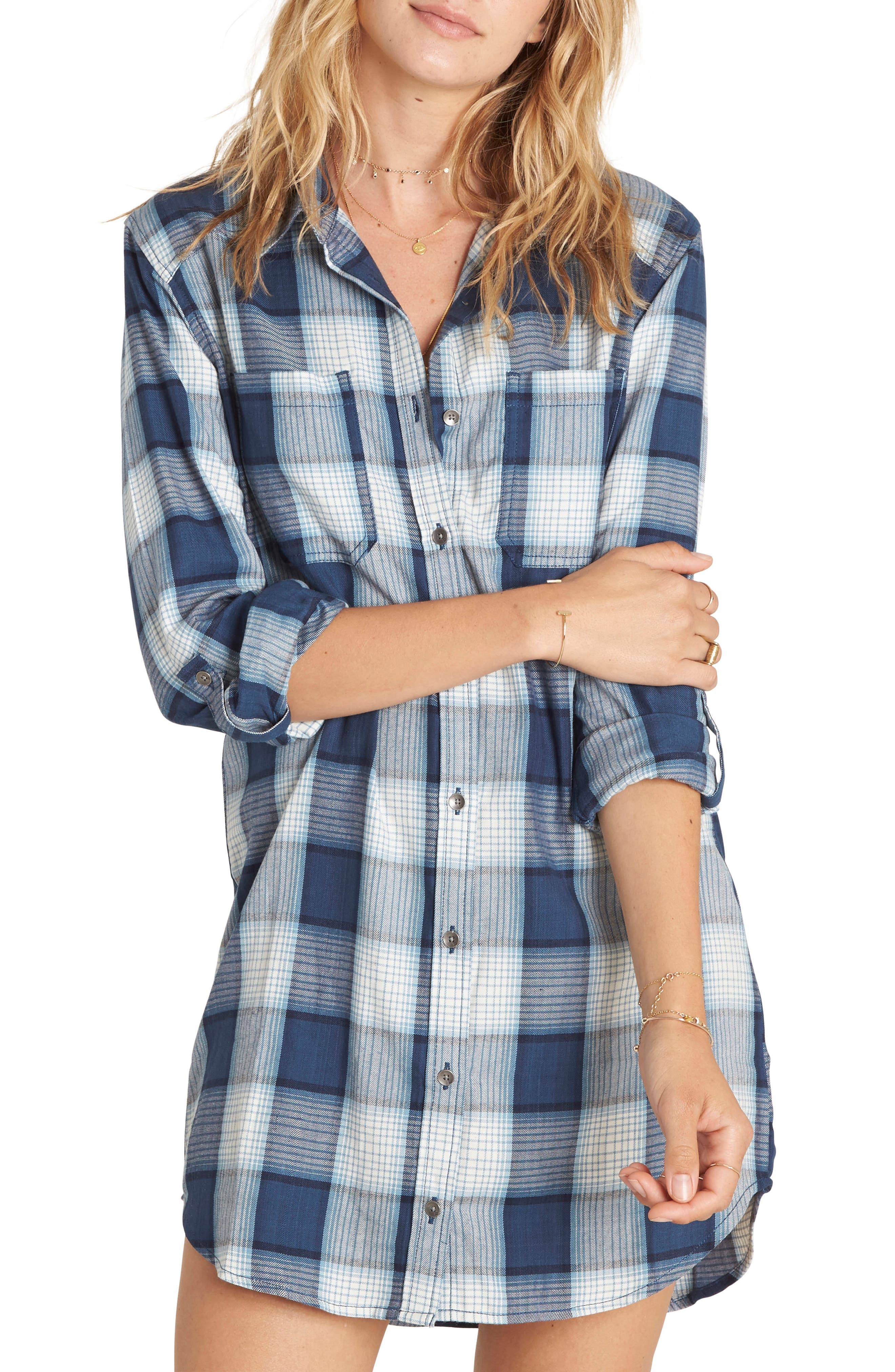 Billabong Winter's Tail Plaid Shirtdress