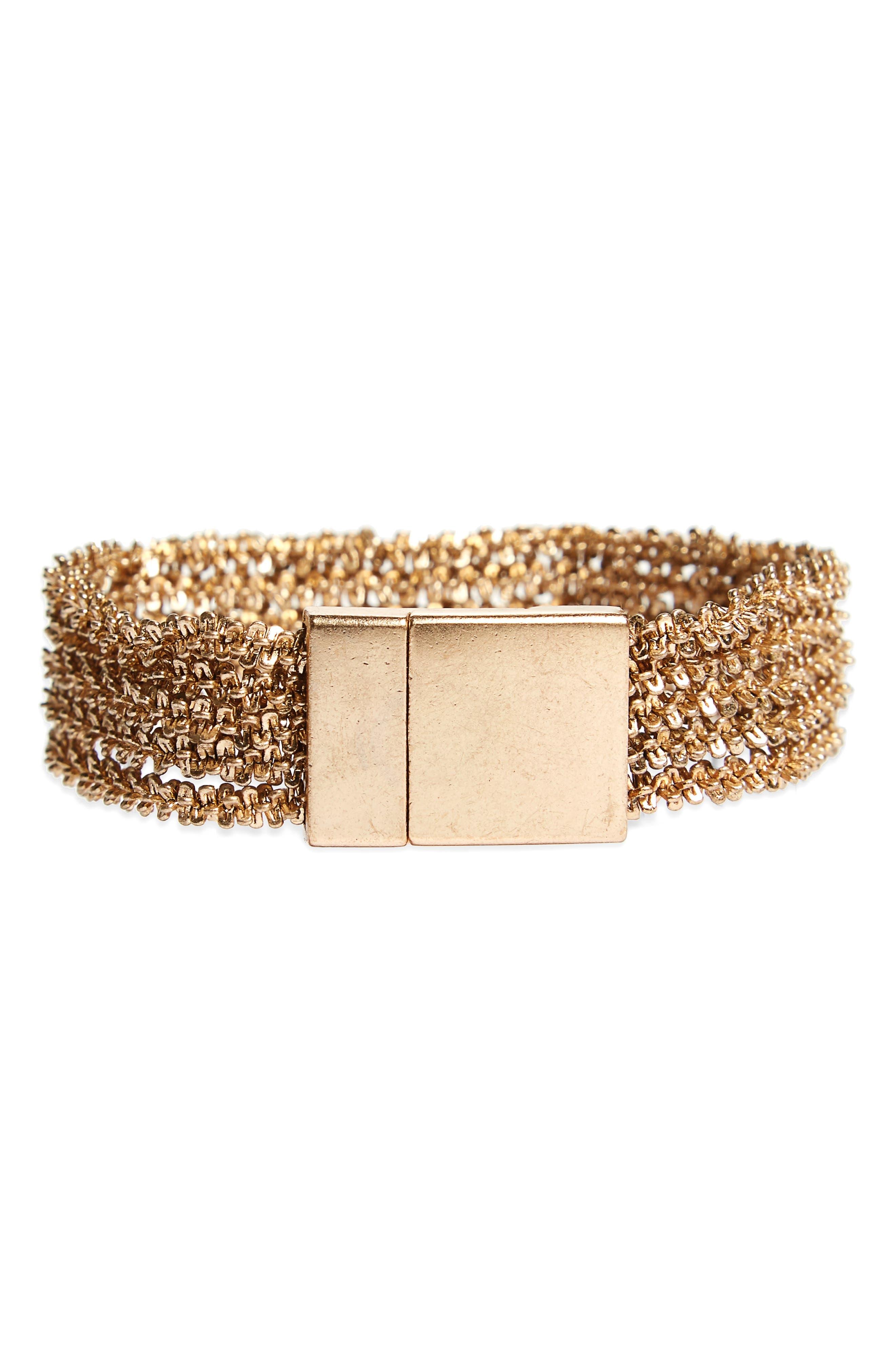 Treasure & Bond Texture Chain Bracelet