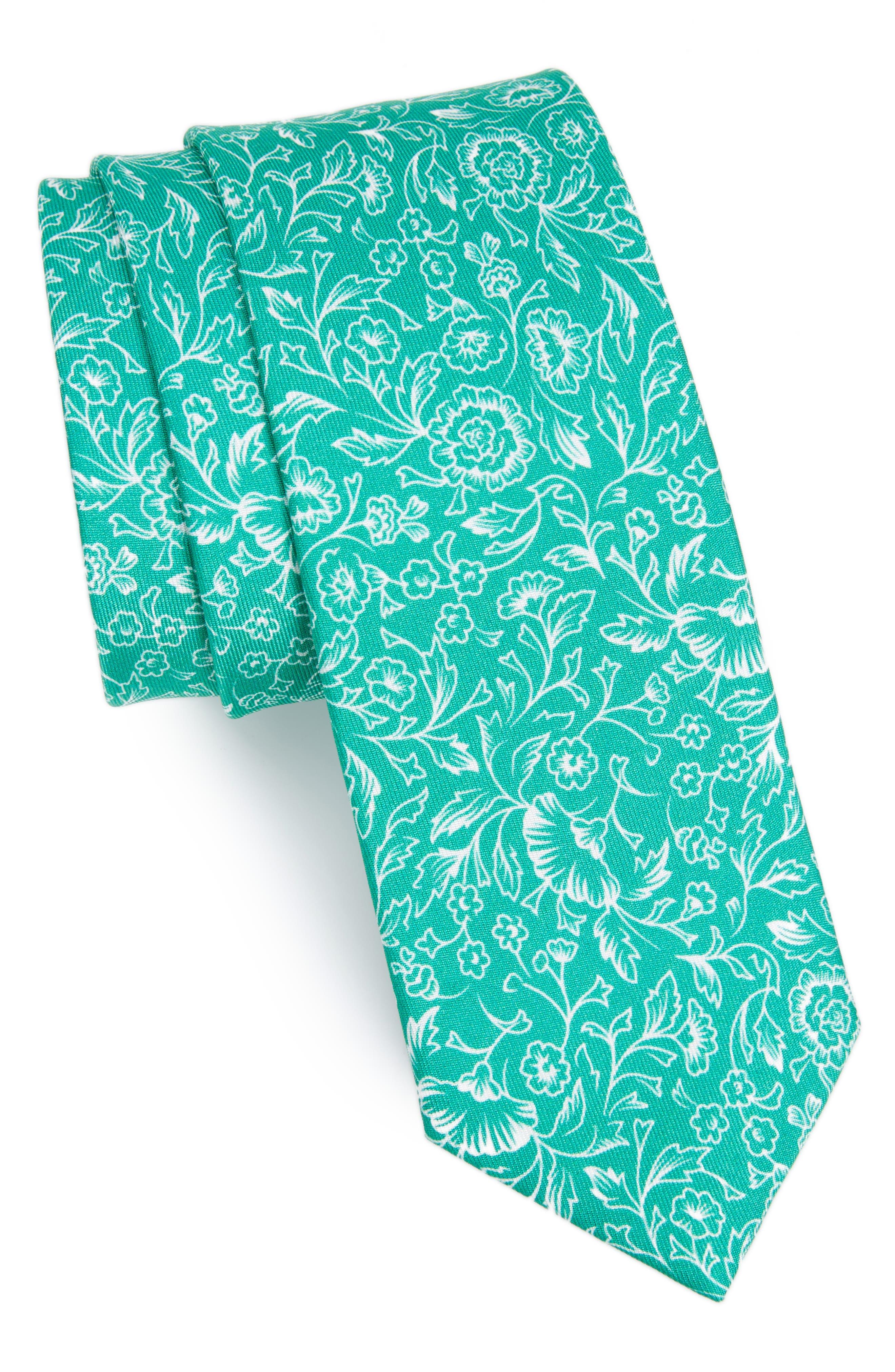 The Tie Bar Bracken Blossom Silk Tie