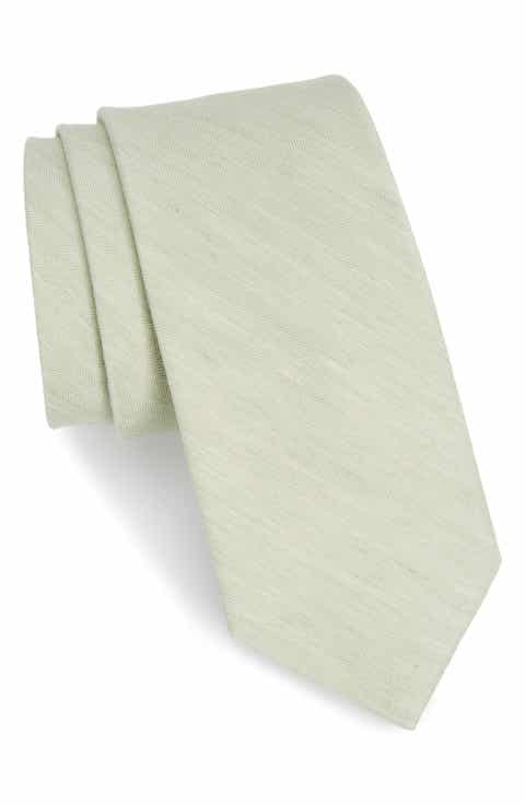 The Tie Bar Solid Linen   Silk Tie