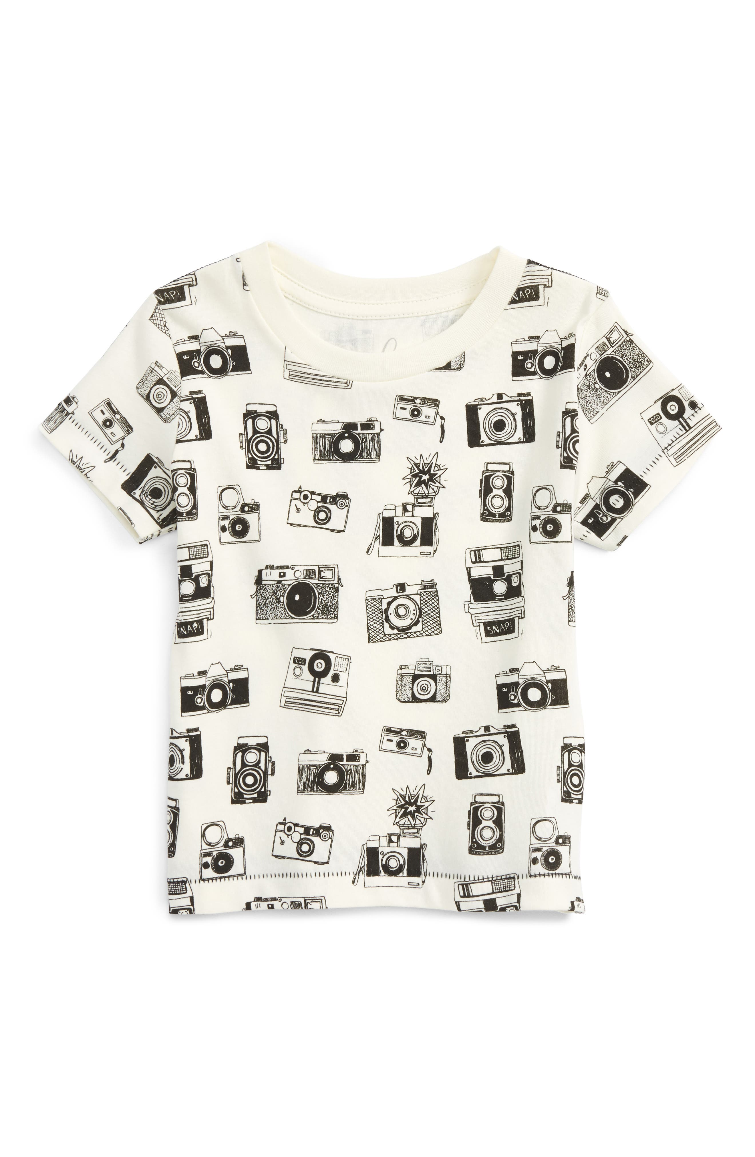 Peek Camera Graphic Cotton T-Shirt (Baby Boys)