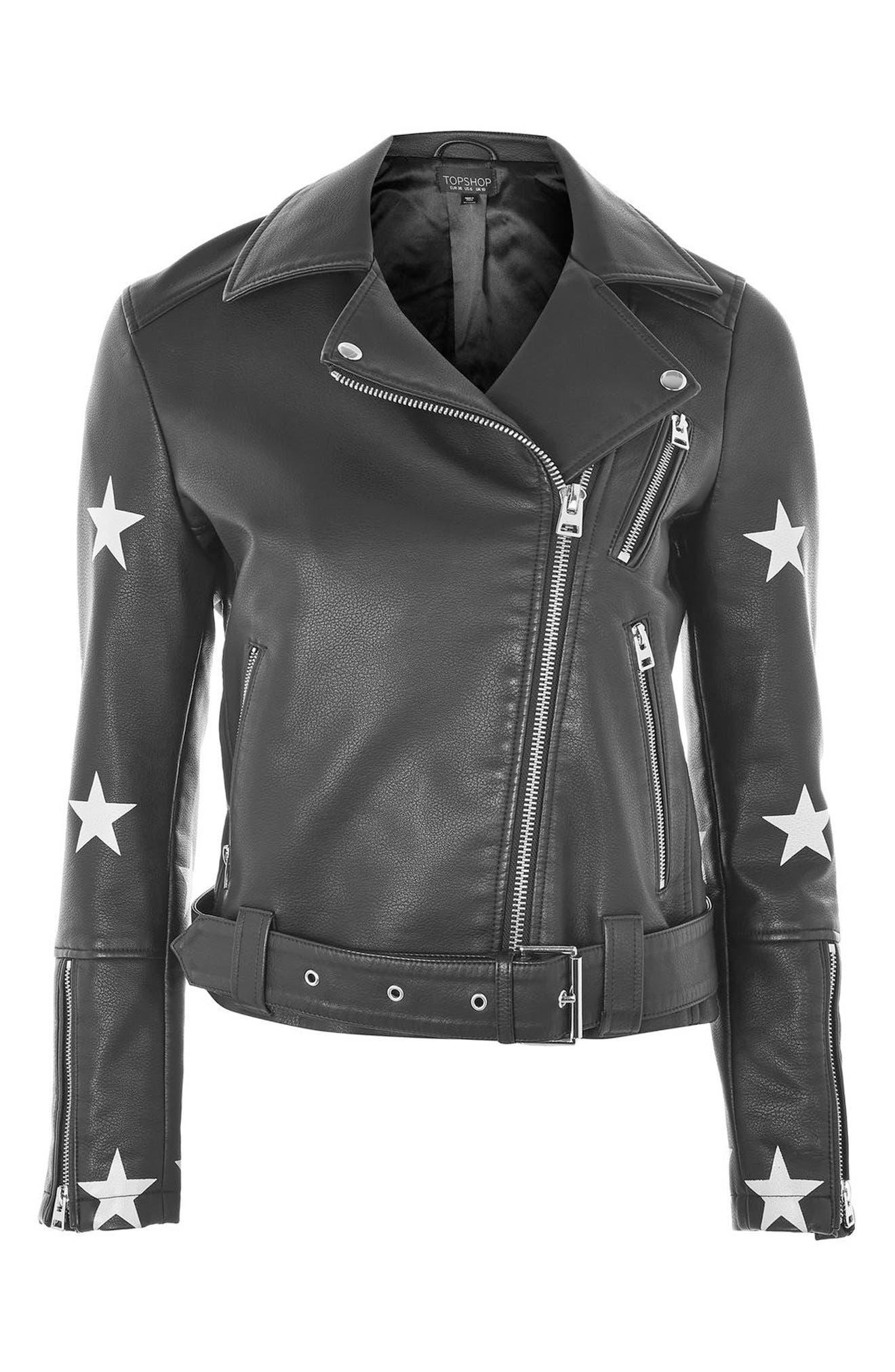 Alternate Image 5  - Topshop Soul Faux Leather Biker Jacket