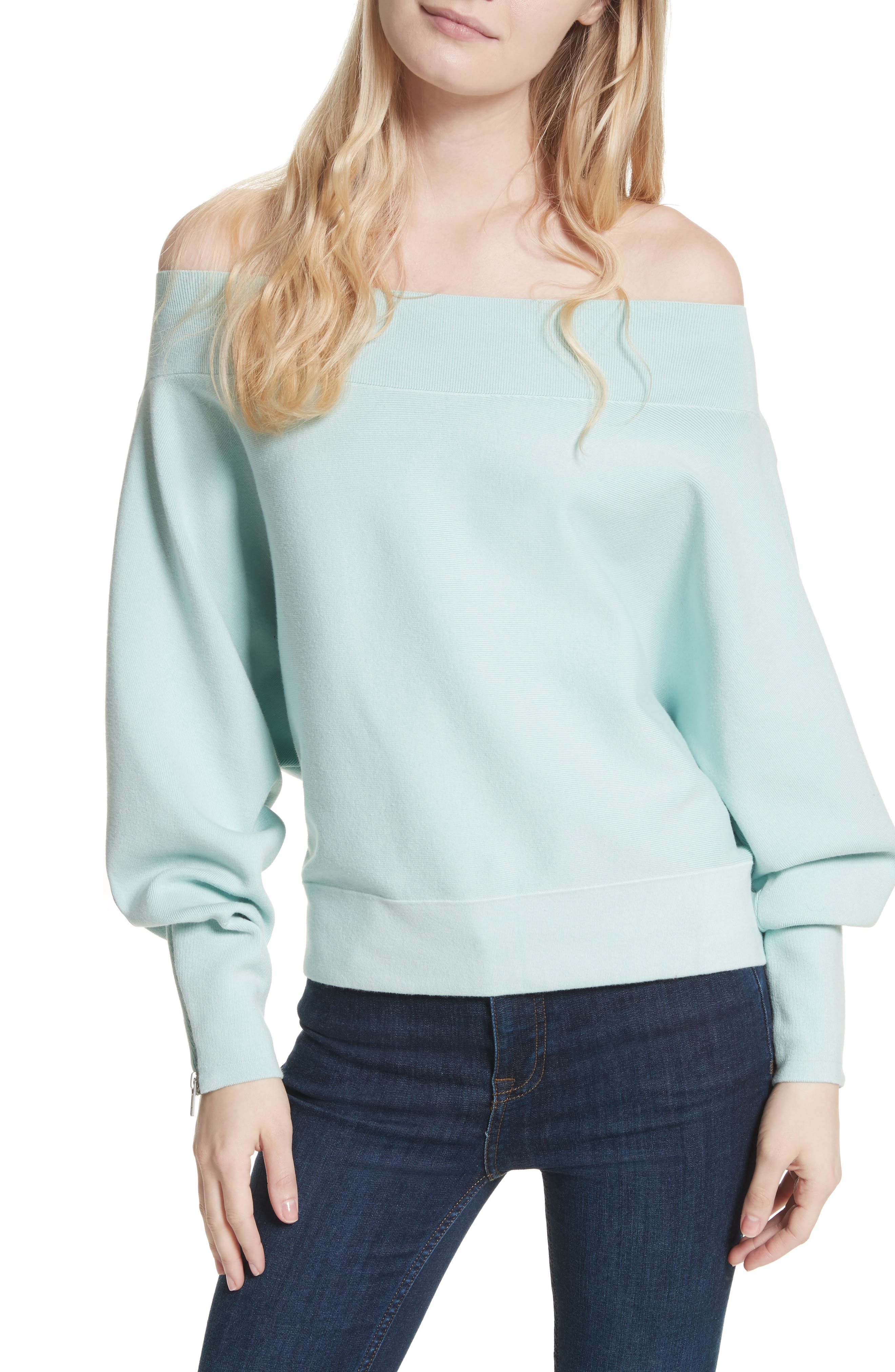 Free People Hide and Seek Off the Shoulder Sweater