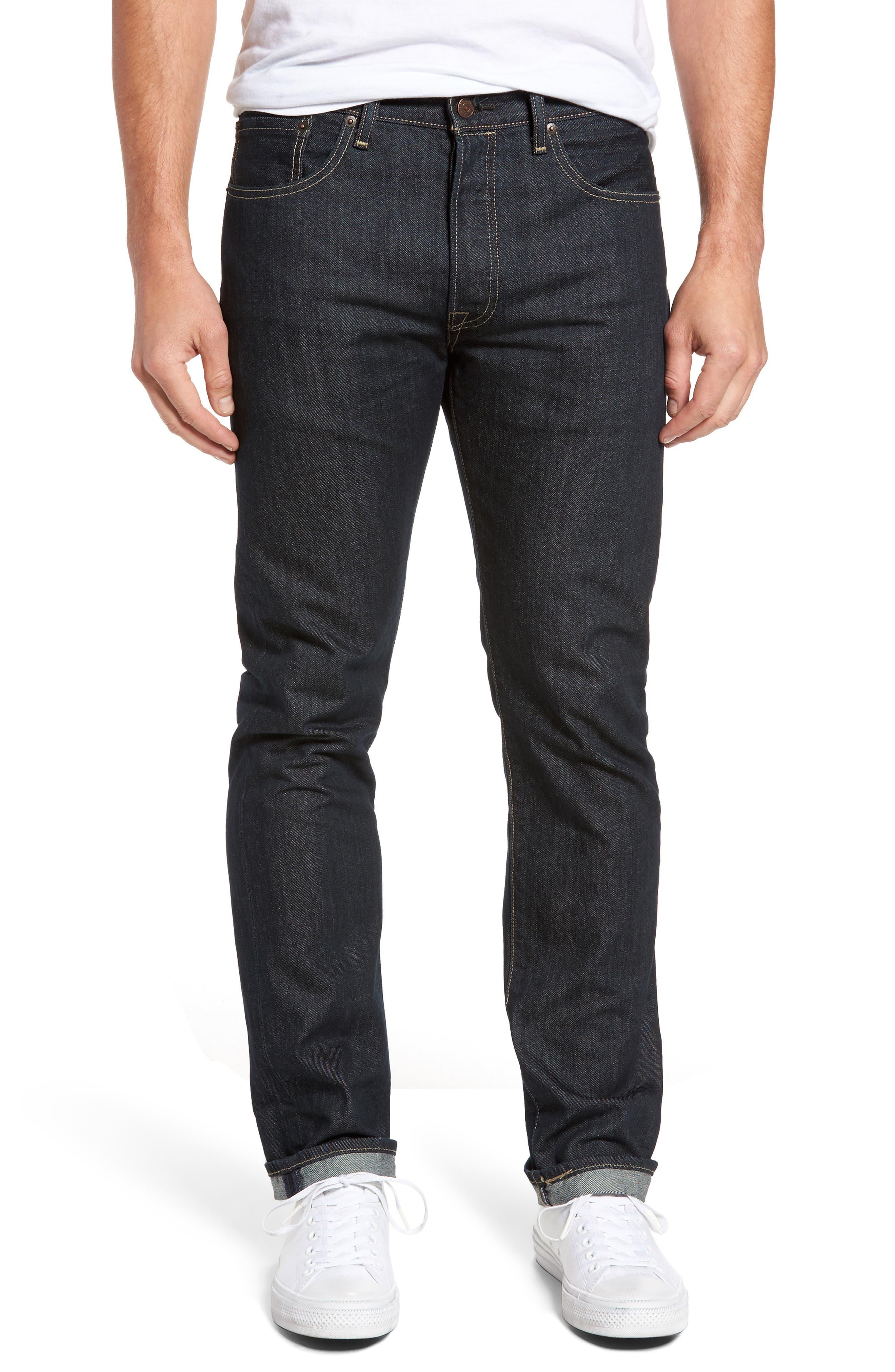 Levi's® 501® Original Fit Straight Leg Jeans (Clean Rigid)