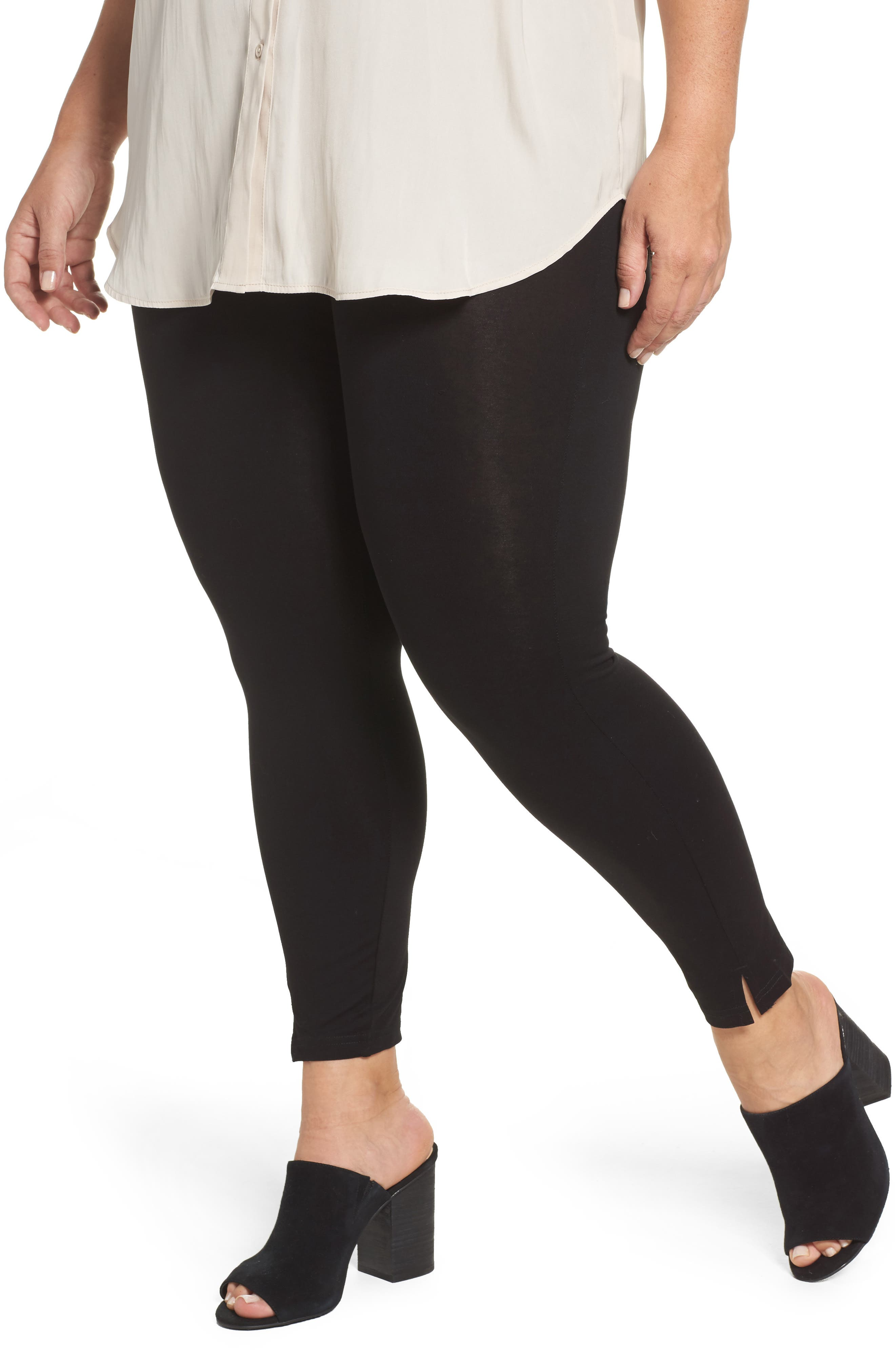 Hue Mercerized Cotton Leggings (Plus Size)