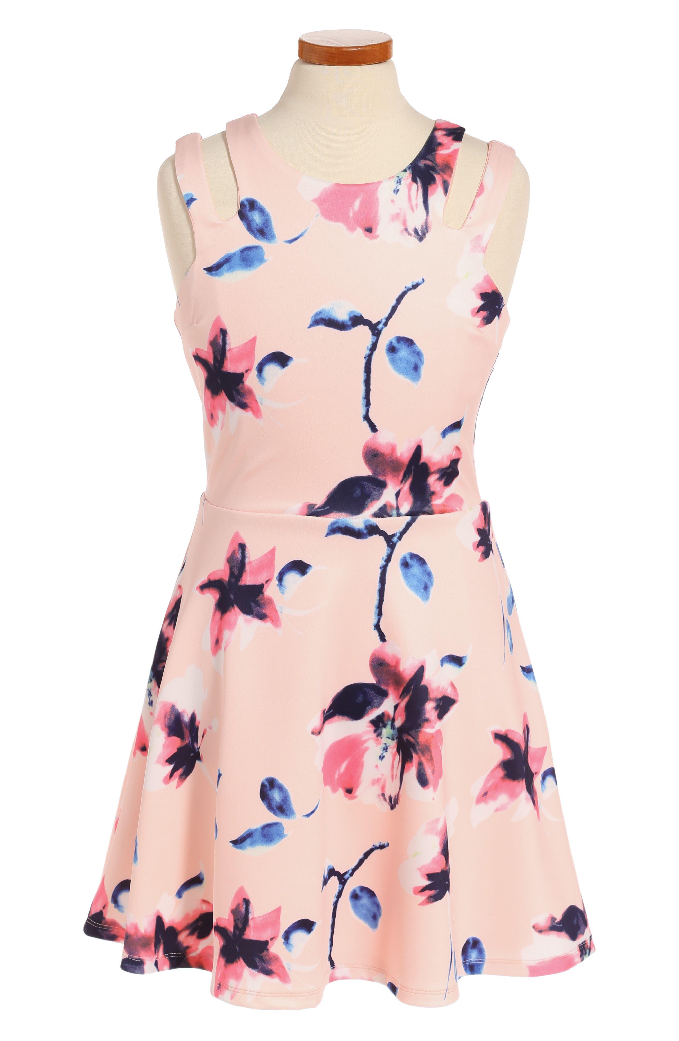 Miss Behave Adrianna Floral Print Dress (Big Girls)
