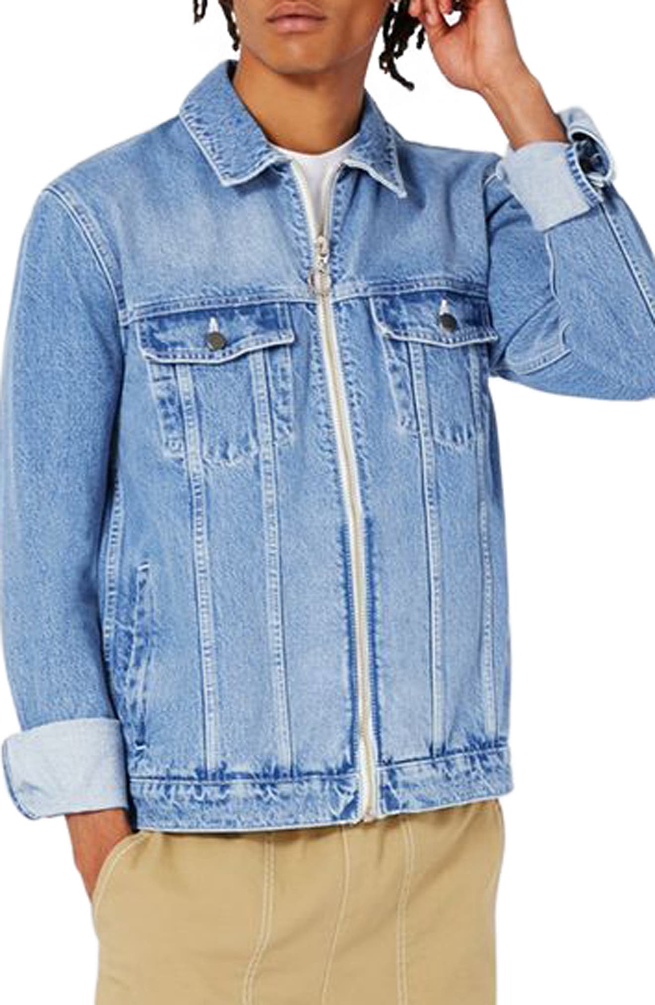 Topman LTD Collection Denim Trucker Jacket