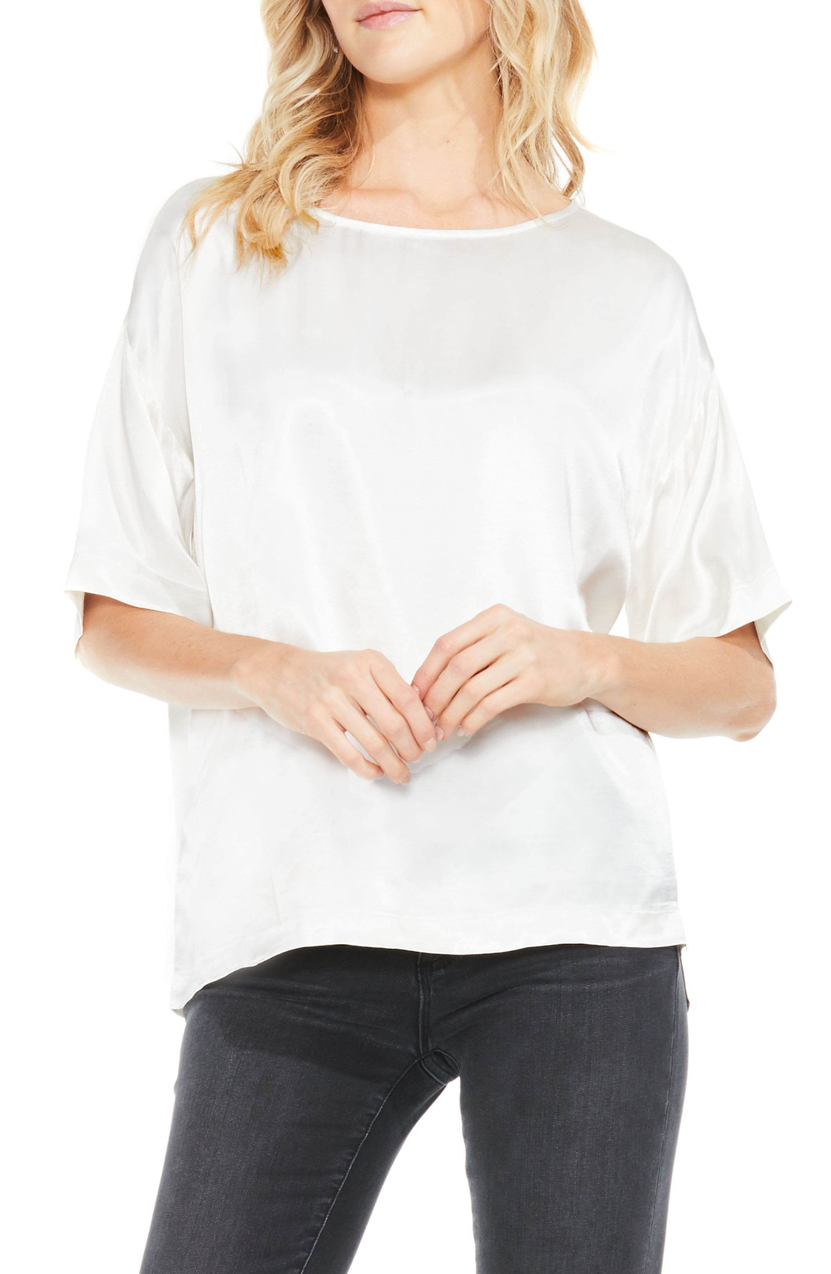 Two by Vince Camuto Satin Tee