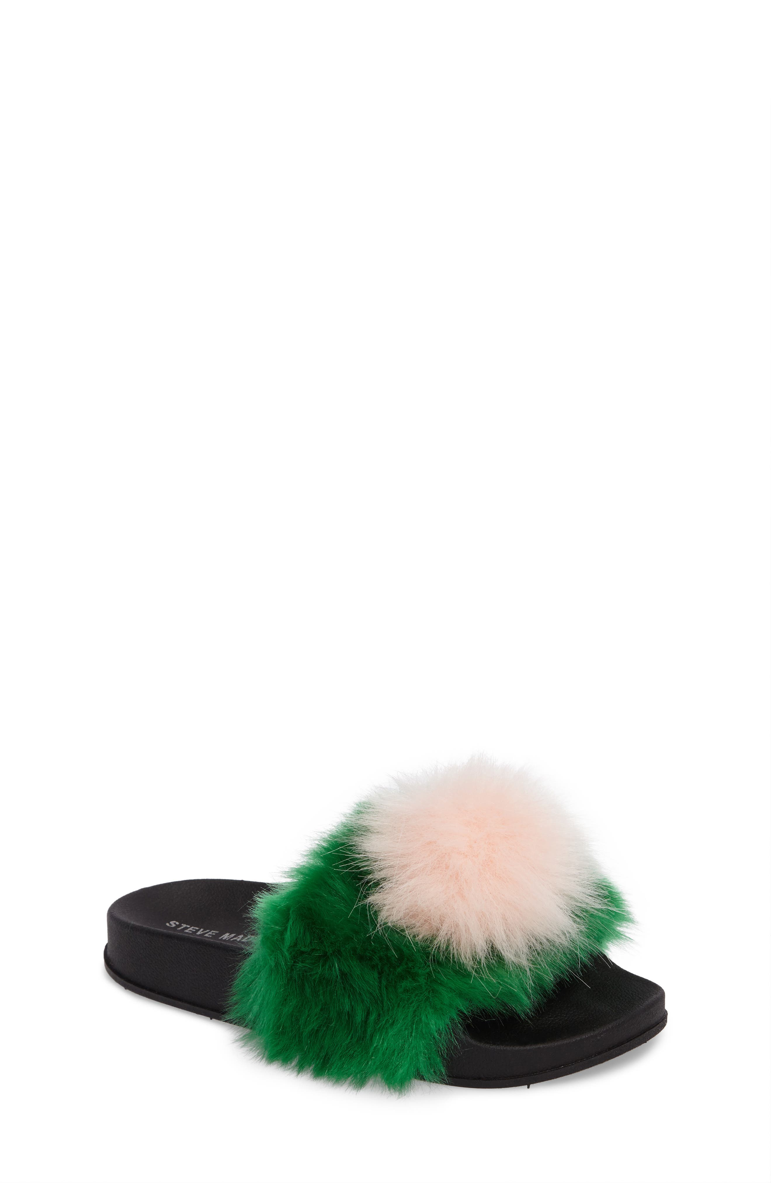 Steve Madden Spiral Faux Fur Slide Sandal (Little Kid & Big Kid)