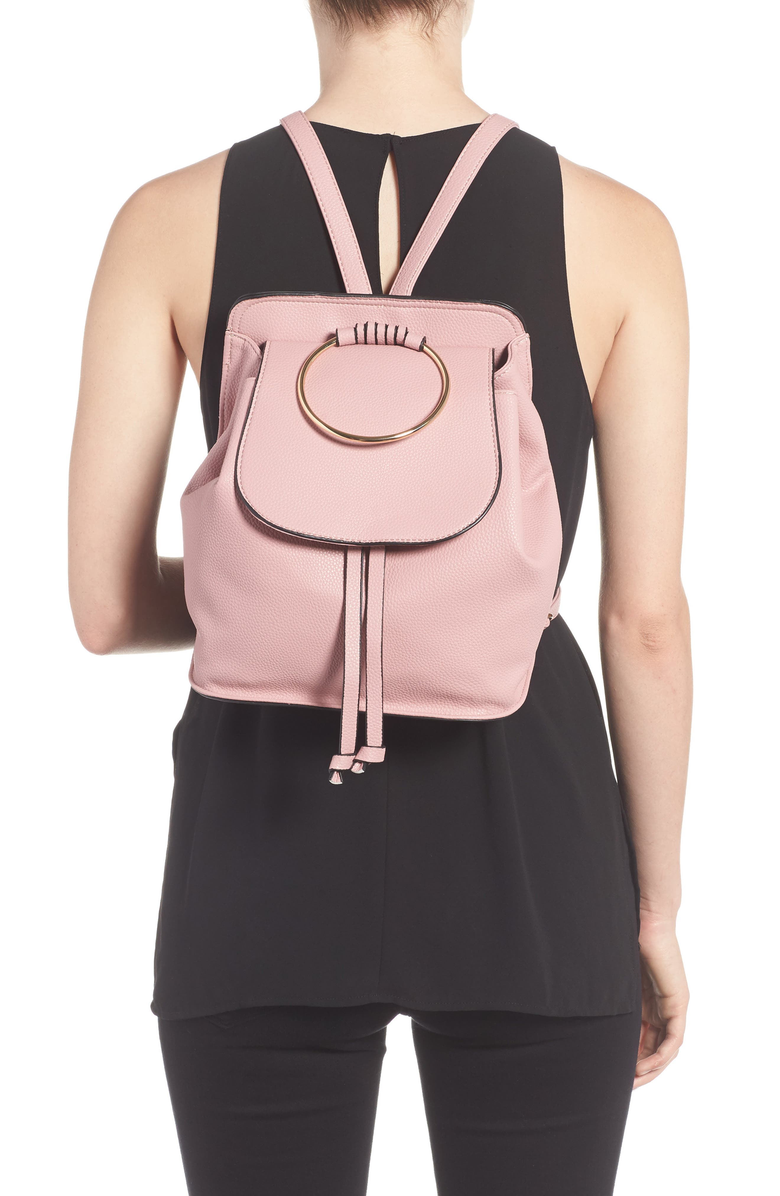 Alternate Image 2  - Amici Accessories Ring Handle Backpack