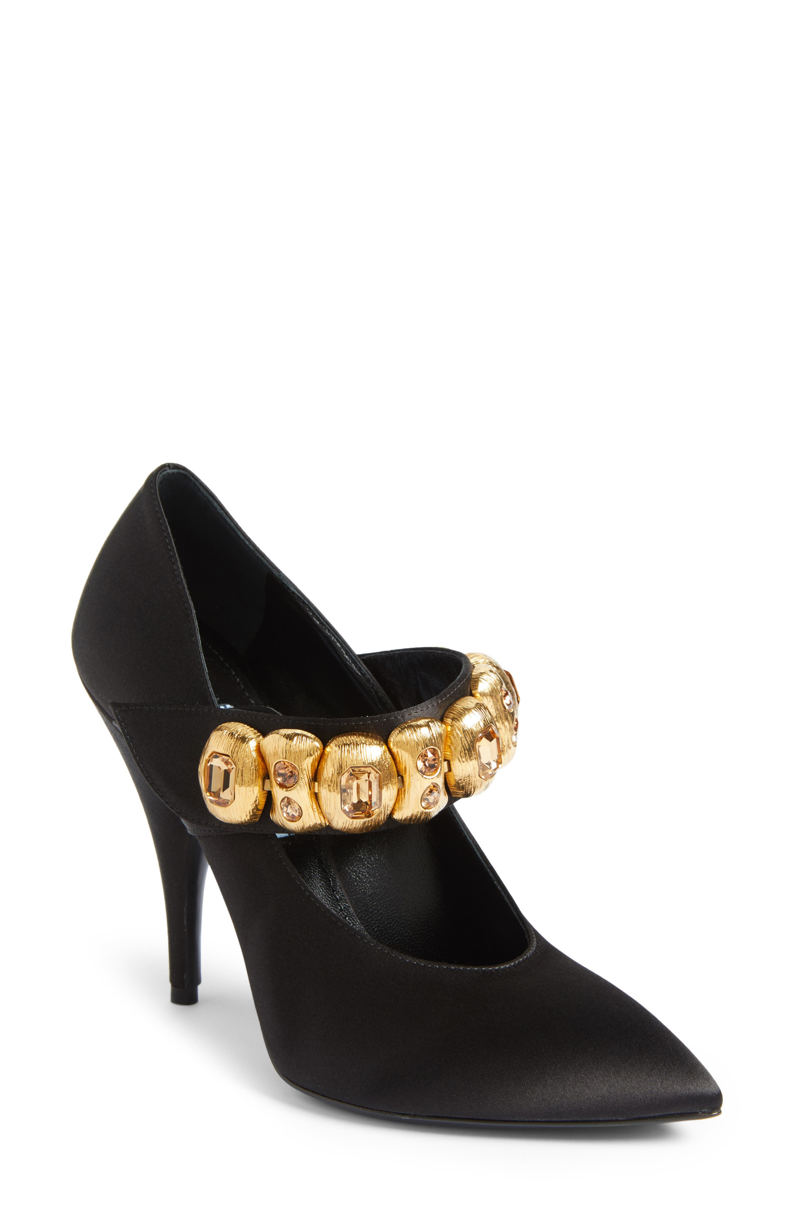 Prada Embellished Mary Jane Strap Pump (Women)