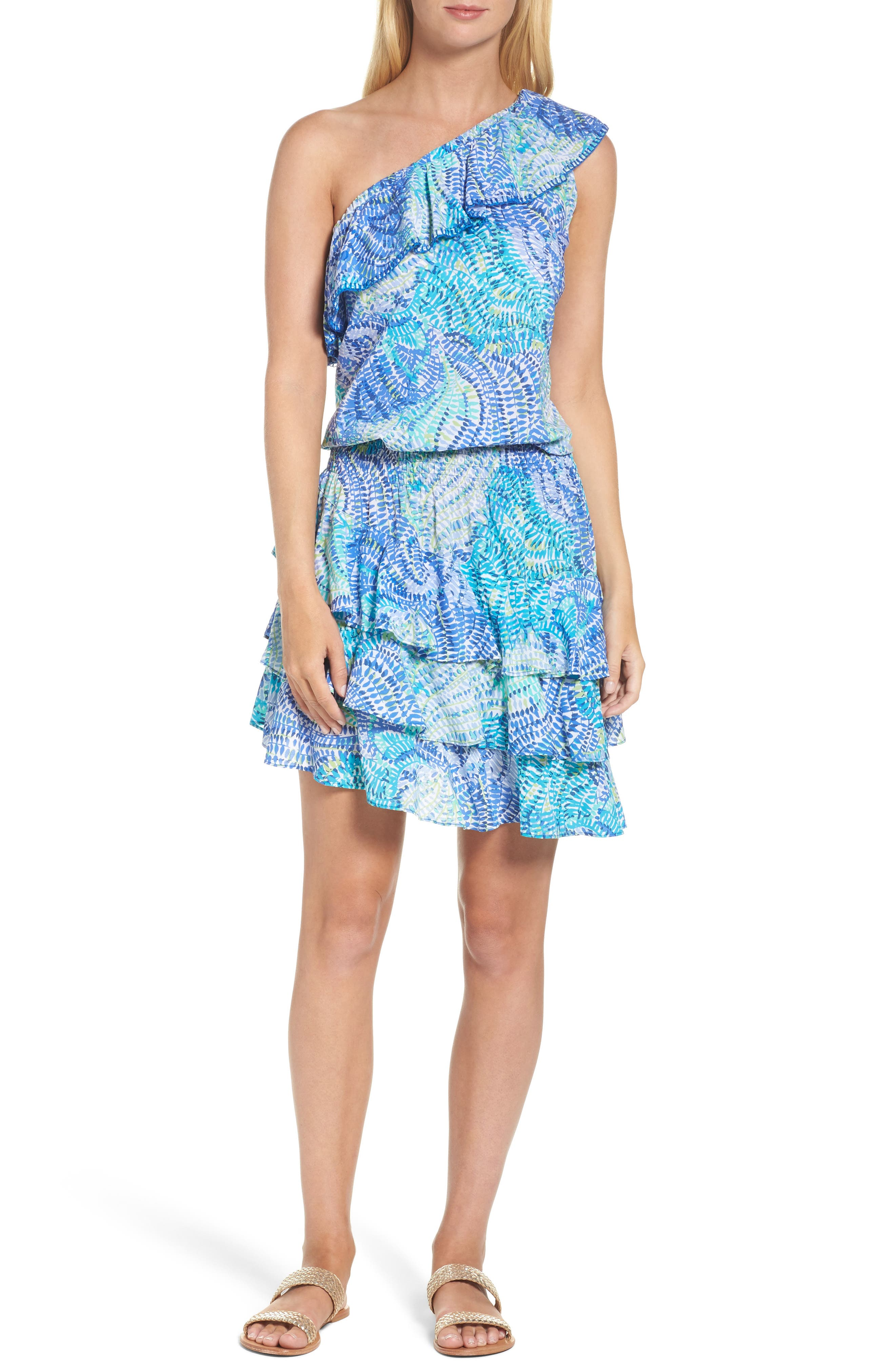 Lilly Pulitzer® Peighton One-Shoulder Dress