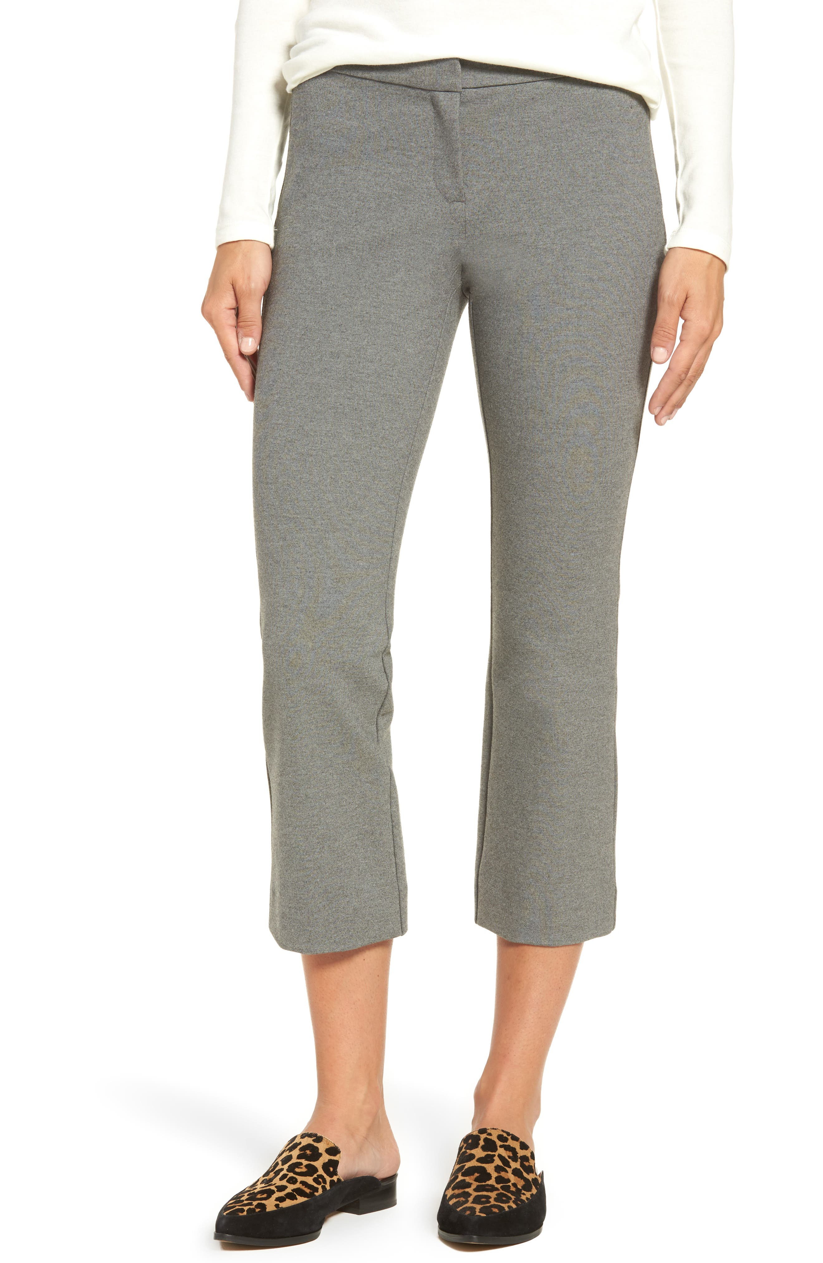Halogen® Kick Flare Knit Ankle Pants (Regular & Petite)