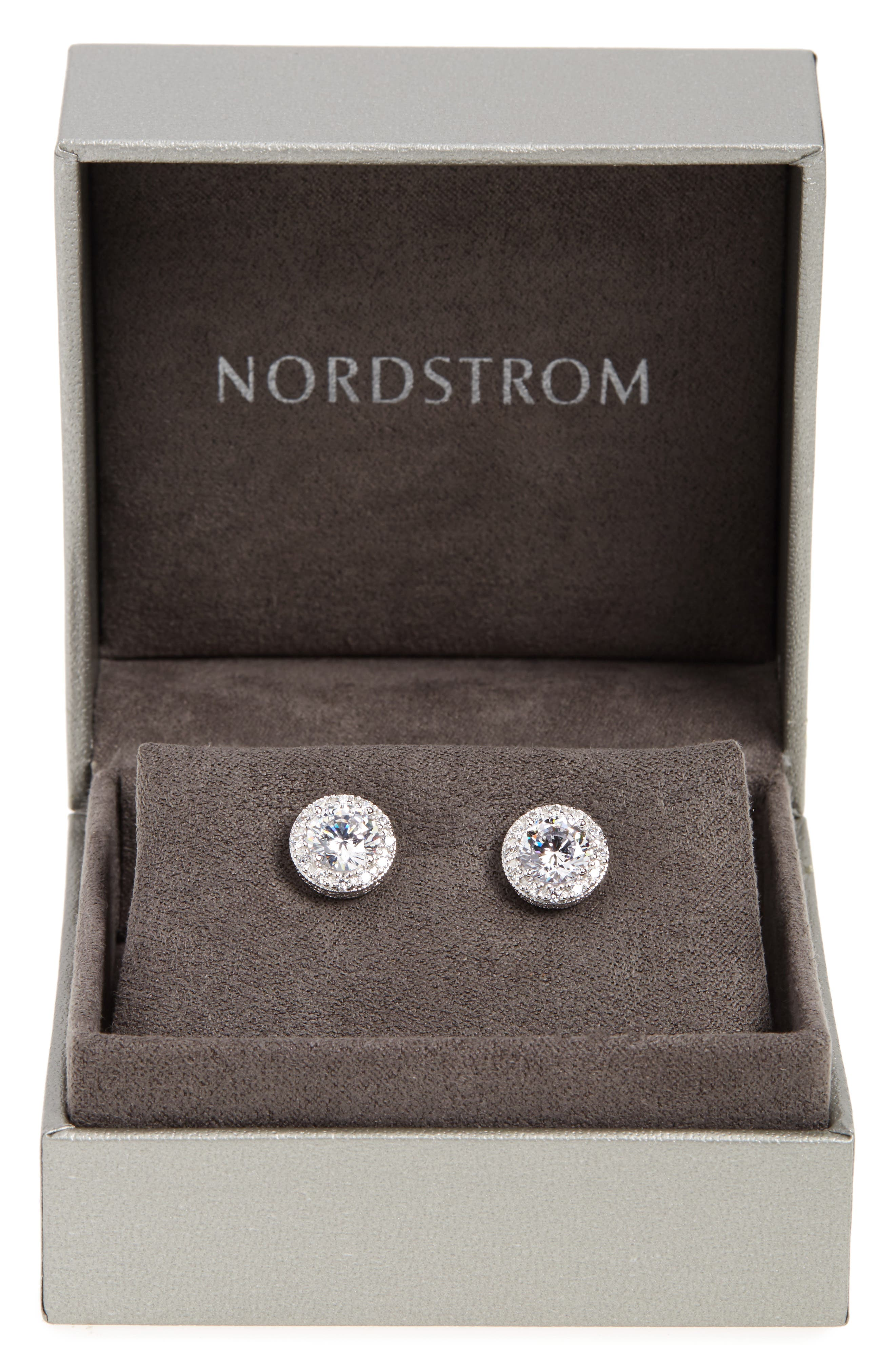 Alternate Image 3  - Nordstrom Round 3.48ct tw Cubic Zirconia Stud Earrings
