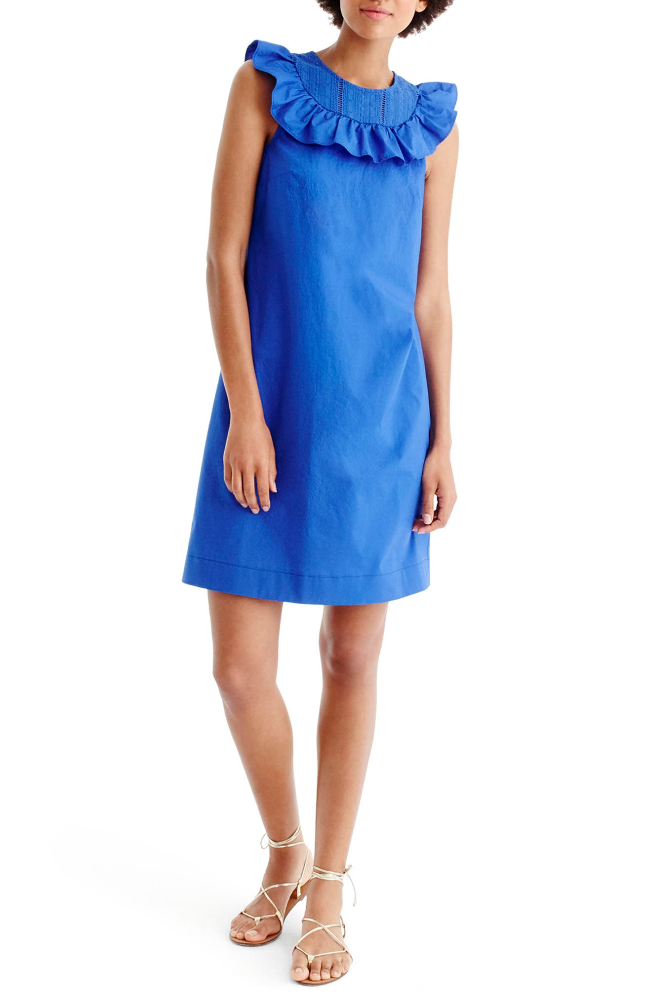 J.Crew Ruffle Neck Dress