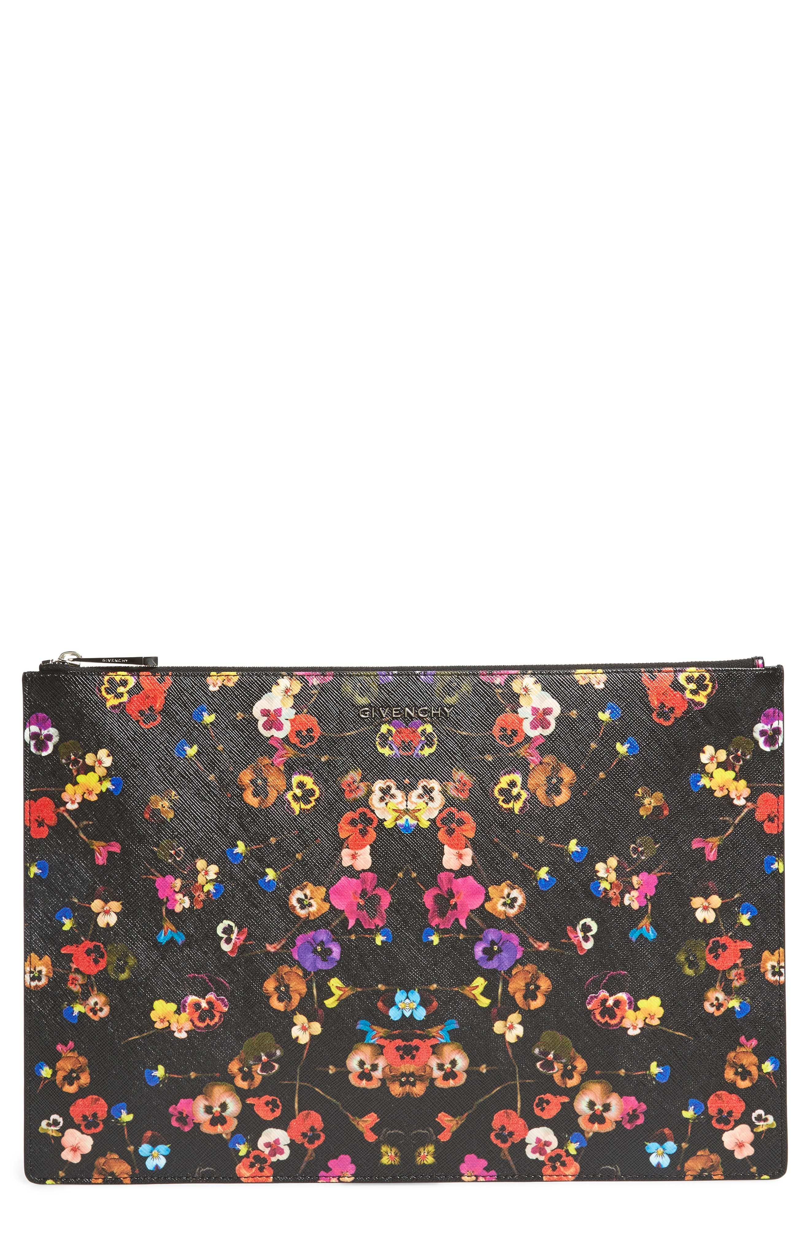 Givenchy Pansy Print Coated Canvas Pouch