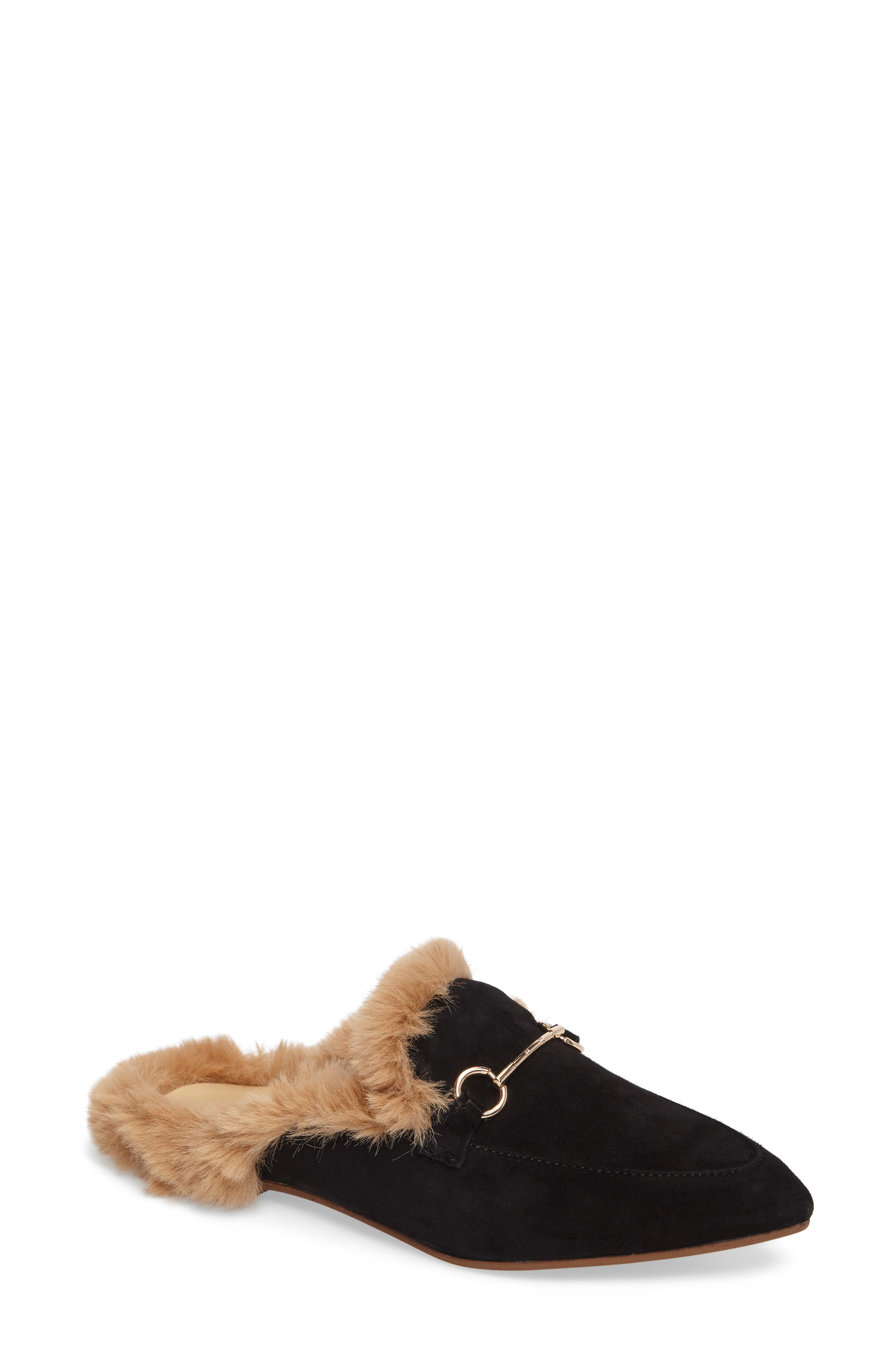 Kristin Cavallari Carter Faux Fur Loafer Mule (Women)