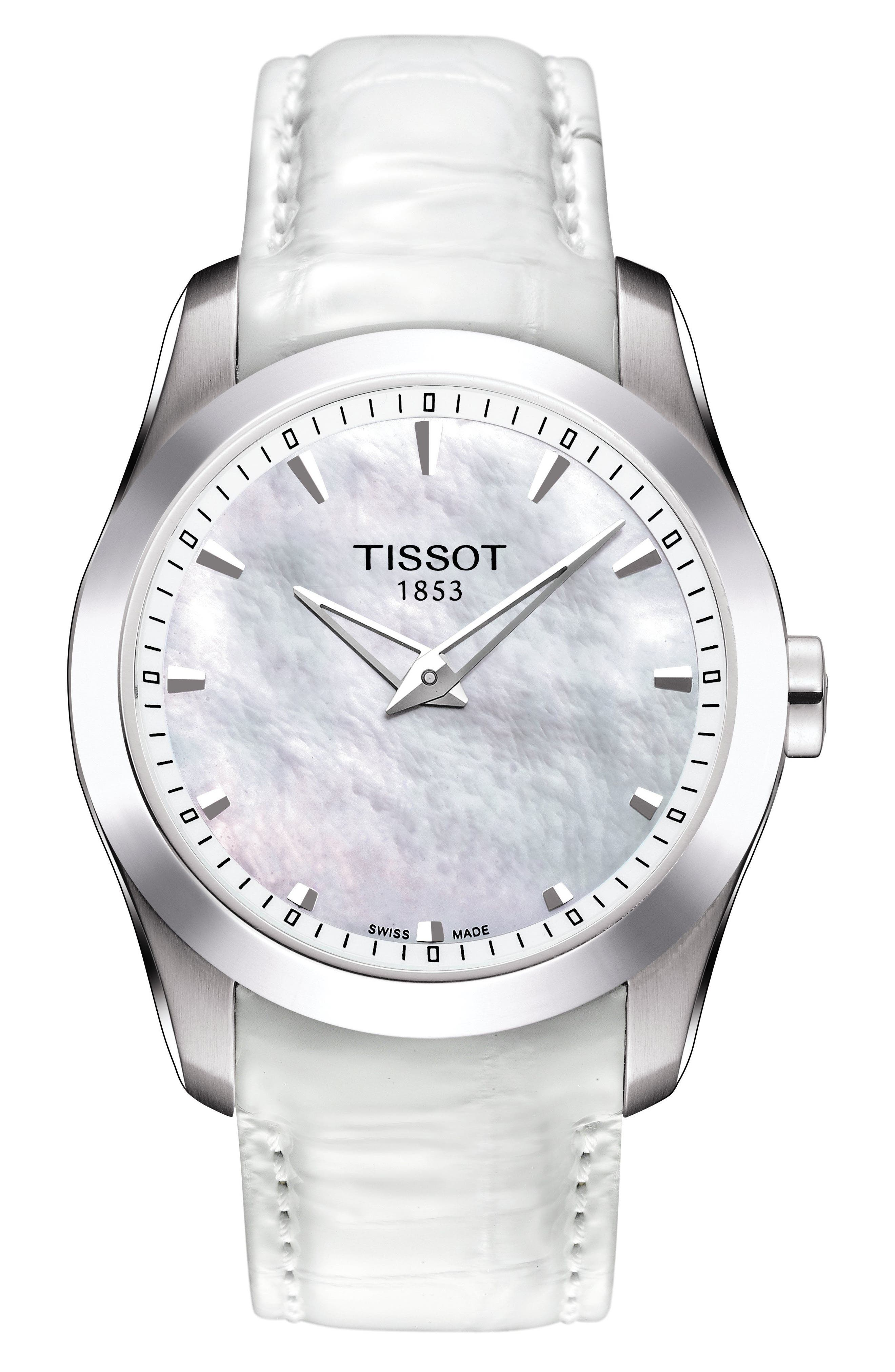 Tissot Couturier Leather Strap Watch, 33mm