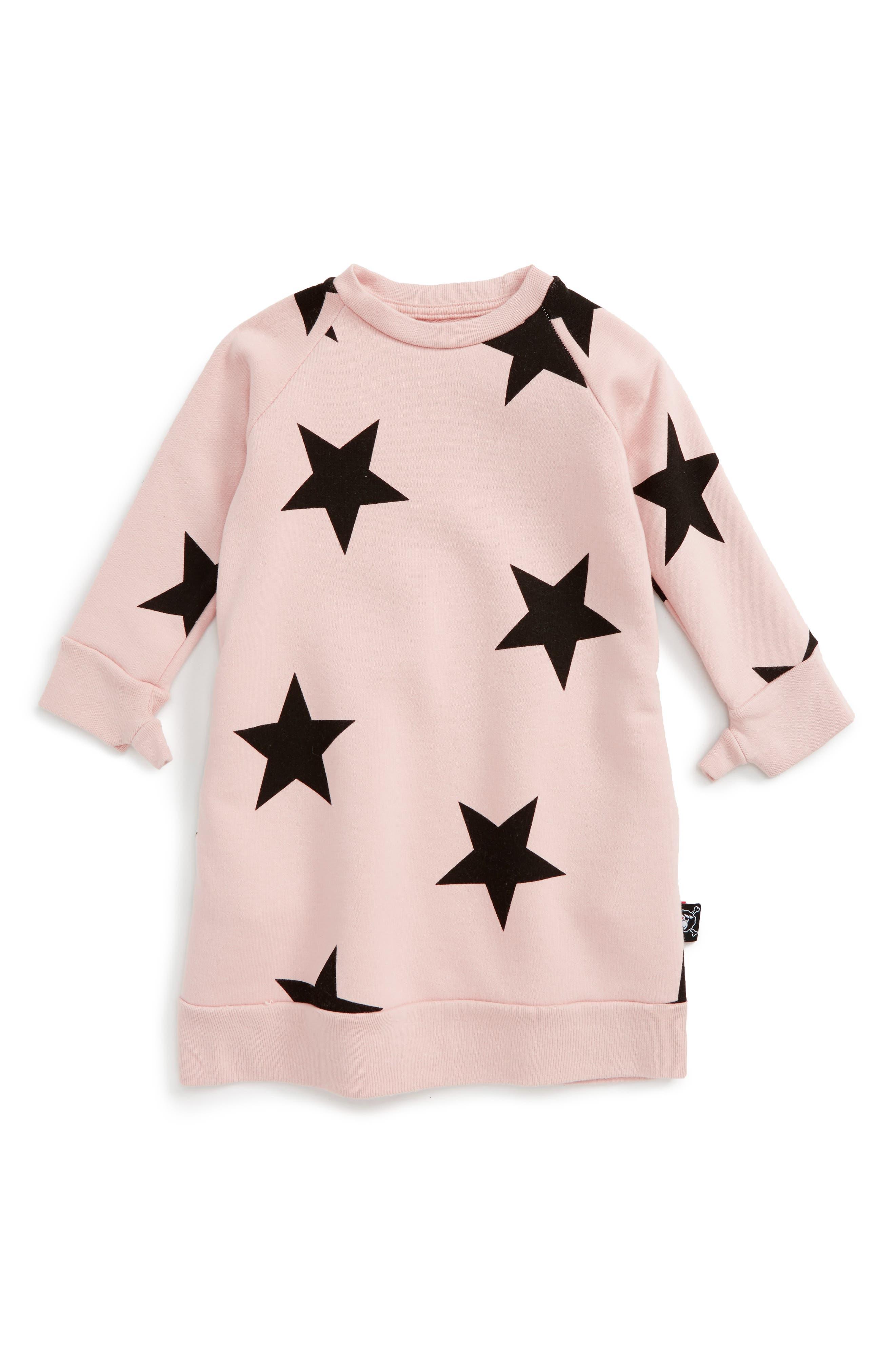 NUNUNU Star Print Dress (Baby Girls)