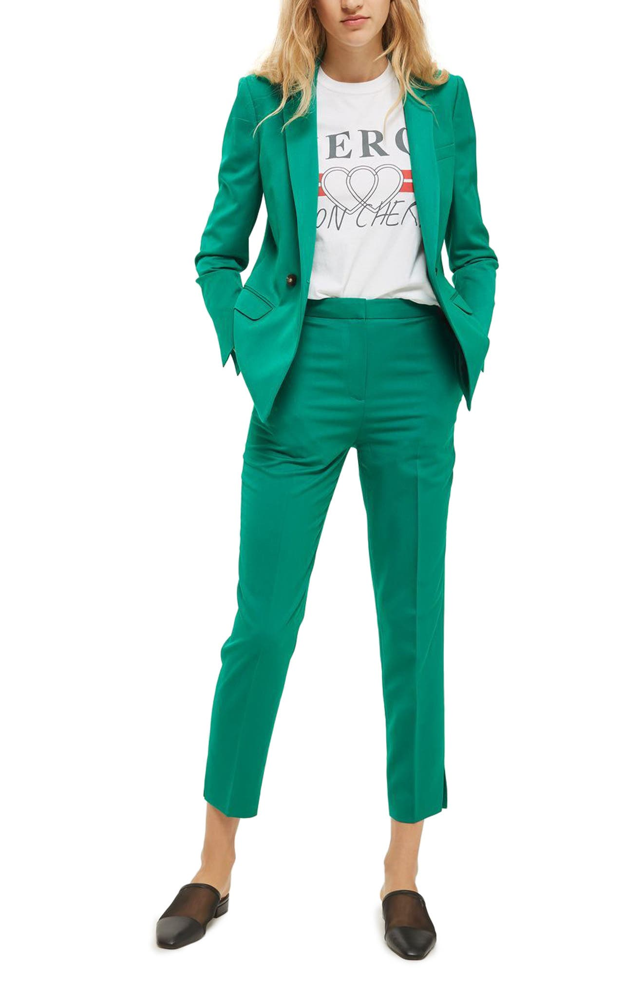 Alternate Image 1 Selected - Topshop Tailored Cigarette Trousers (Regular & Petite)