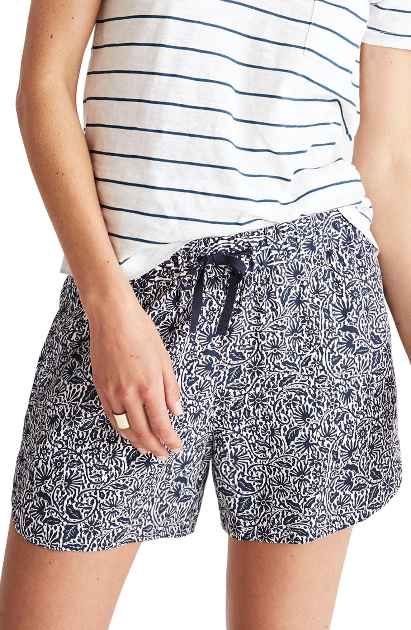 Madewell Print Drapey Pull-On Shorts