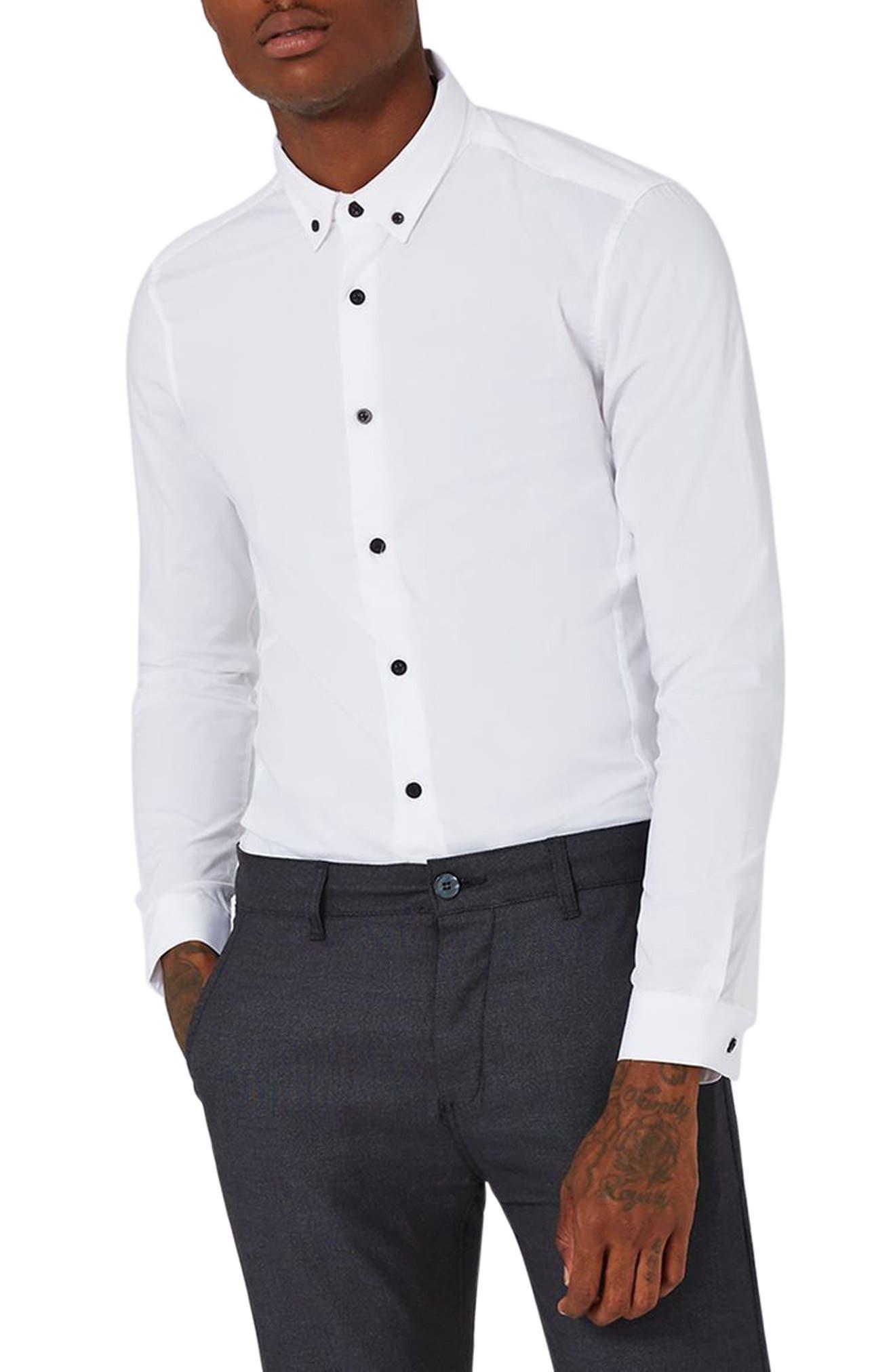 Topman Muscle Fit Smart Shirt
